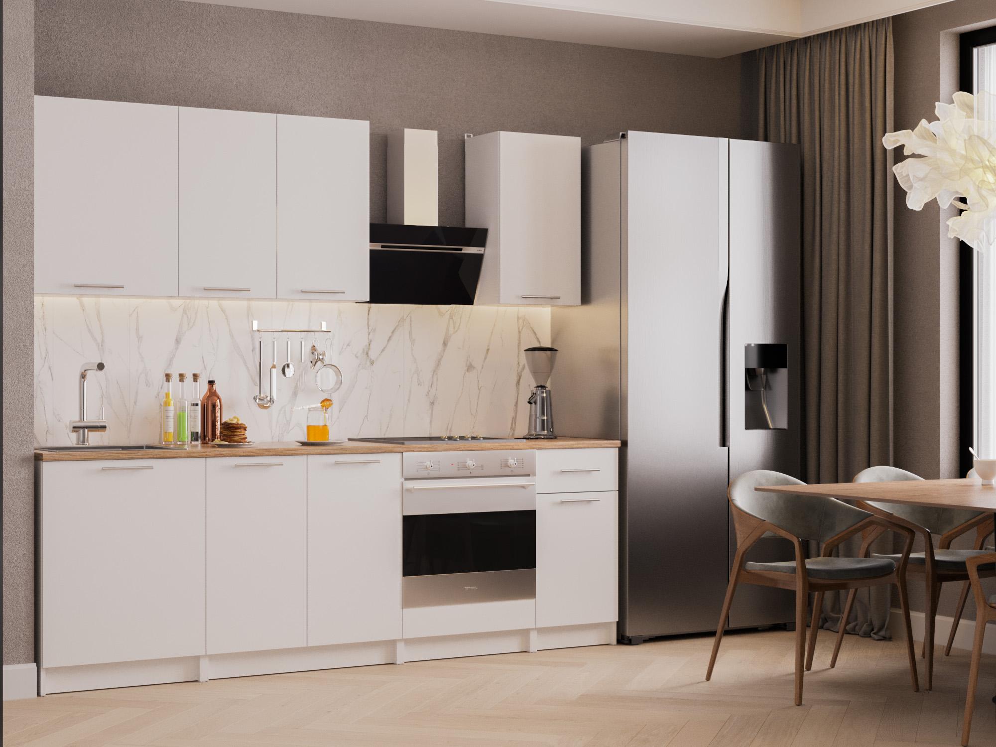 Кухня Моника 2,4 м Белый, , ЛДСП Белый