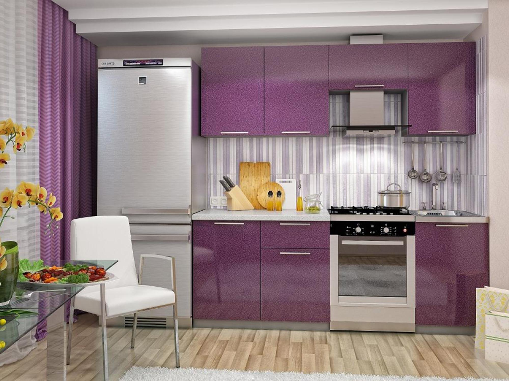Кухня София 2,1 Сирень металлик, Серый