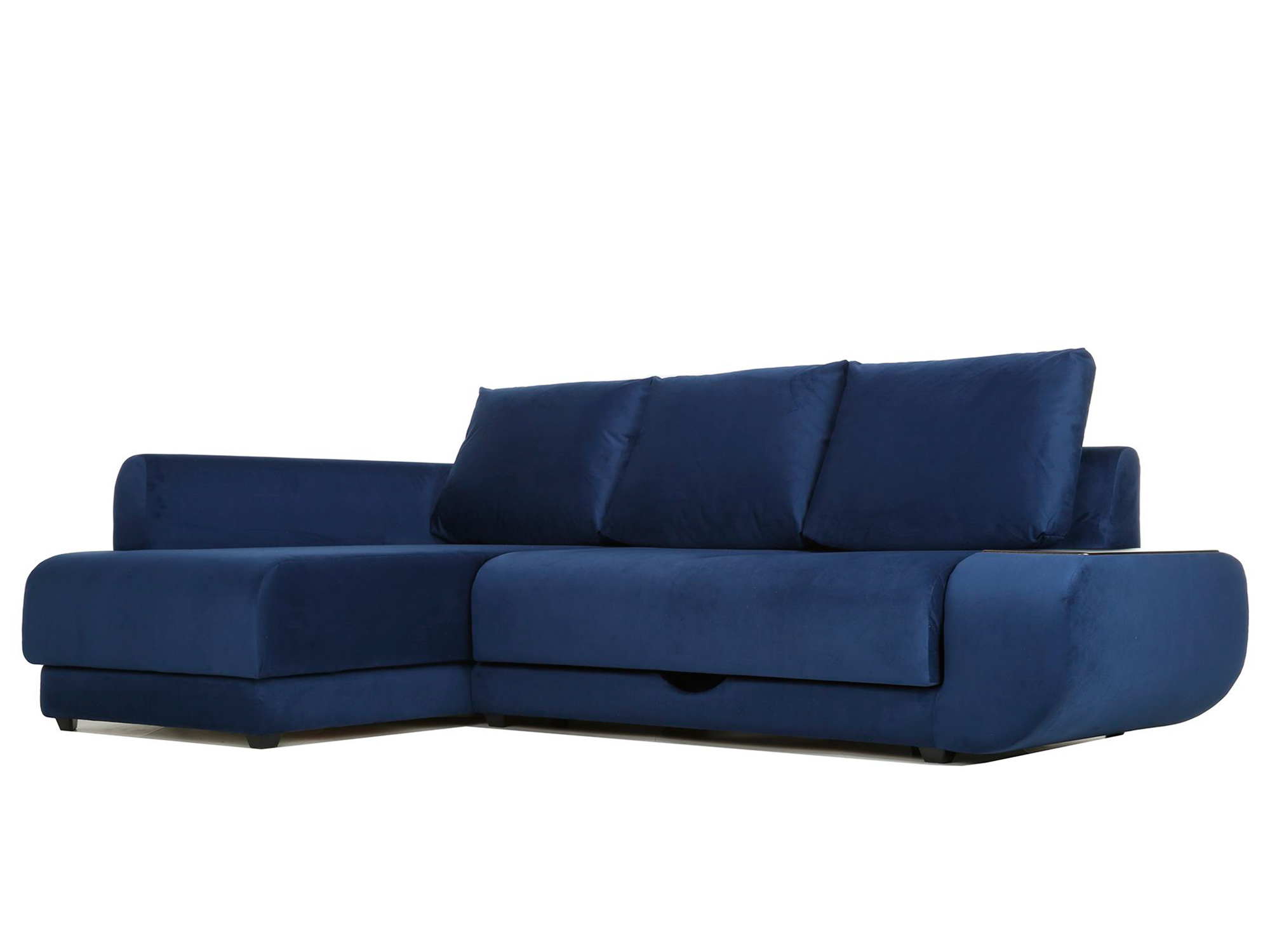 Угловой диван Поло (Нью-Йорк) Левый MebelVia Синий