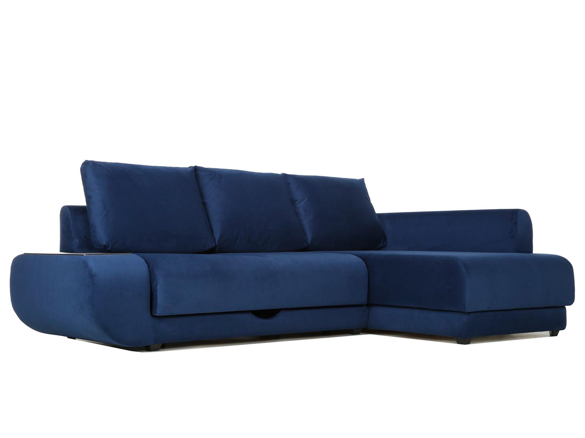 Угловой диван Поло (Нью-Йорк) Правый MebelVia Синий