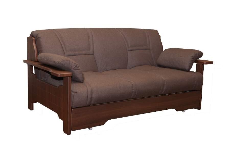 Фиеста Эко диван аккордеон Бруст МДФ - Taurus brown Искусственная кожа - Taurus brown (Арбен)