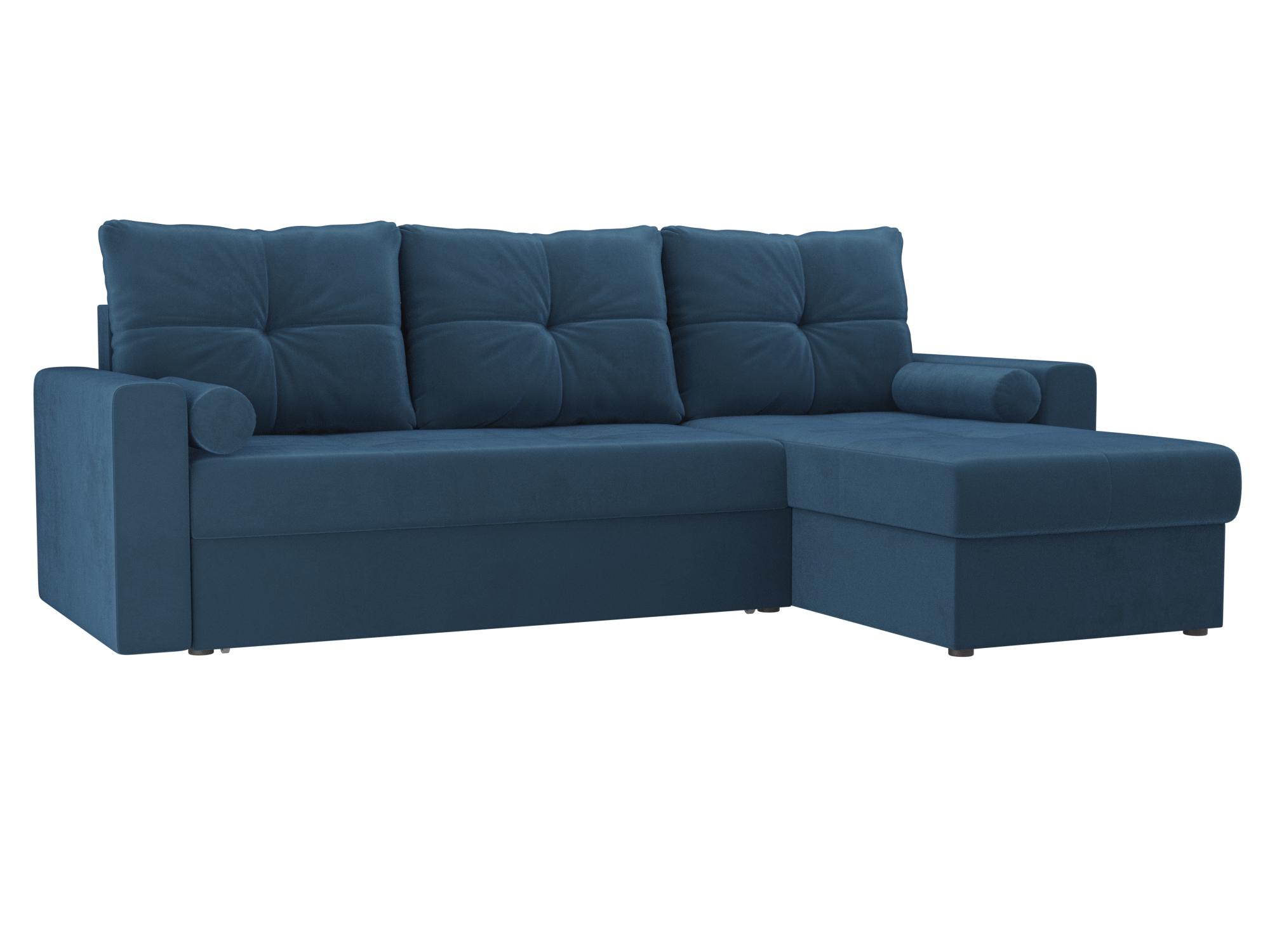 Угловой диван Верона правый MebelVia Голубой