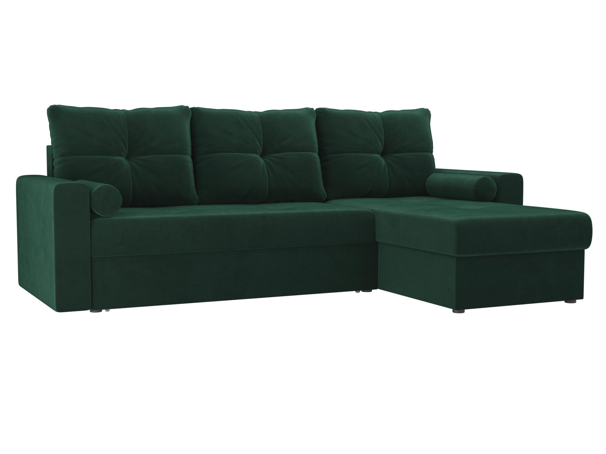 Угловой диван Верона правый MebelVia Зеленый