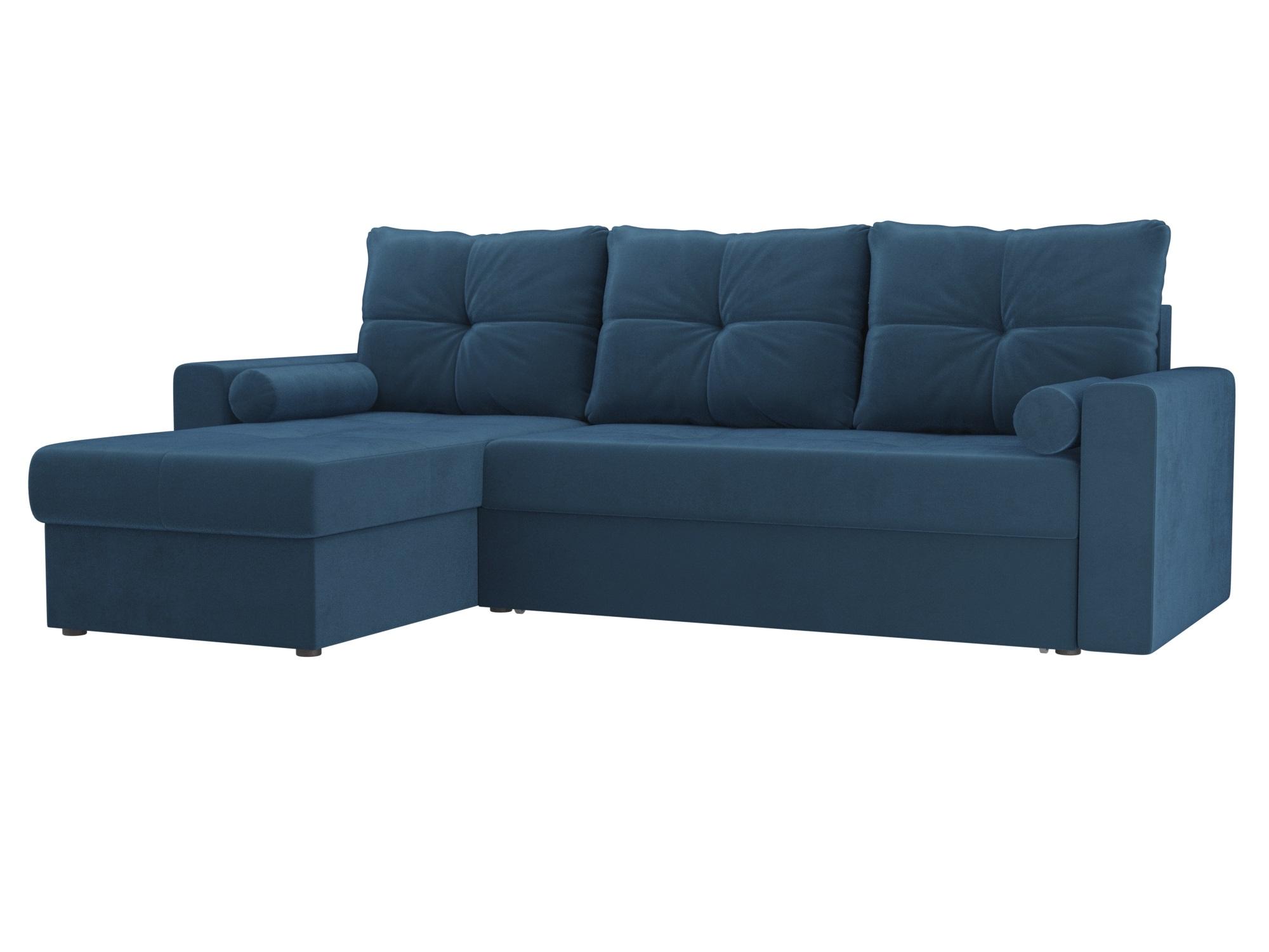 Угловой диван Верона левый MebelVia Голубой