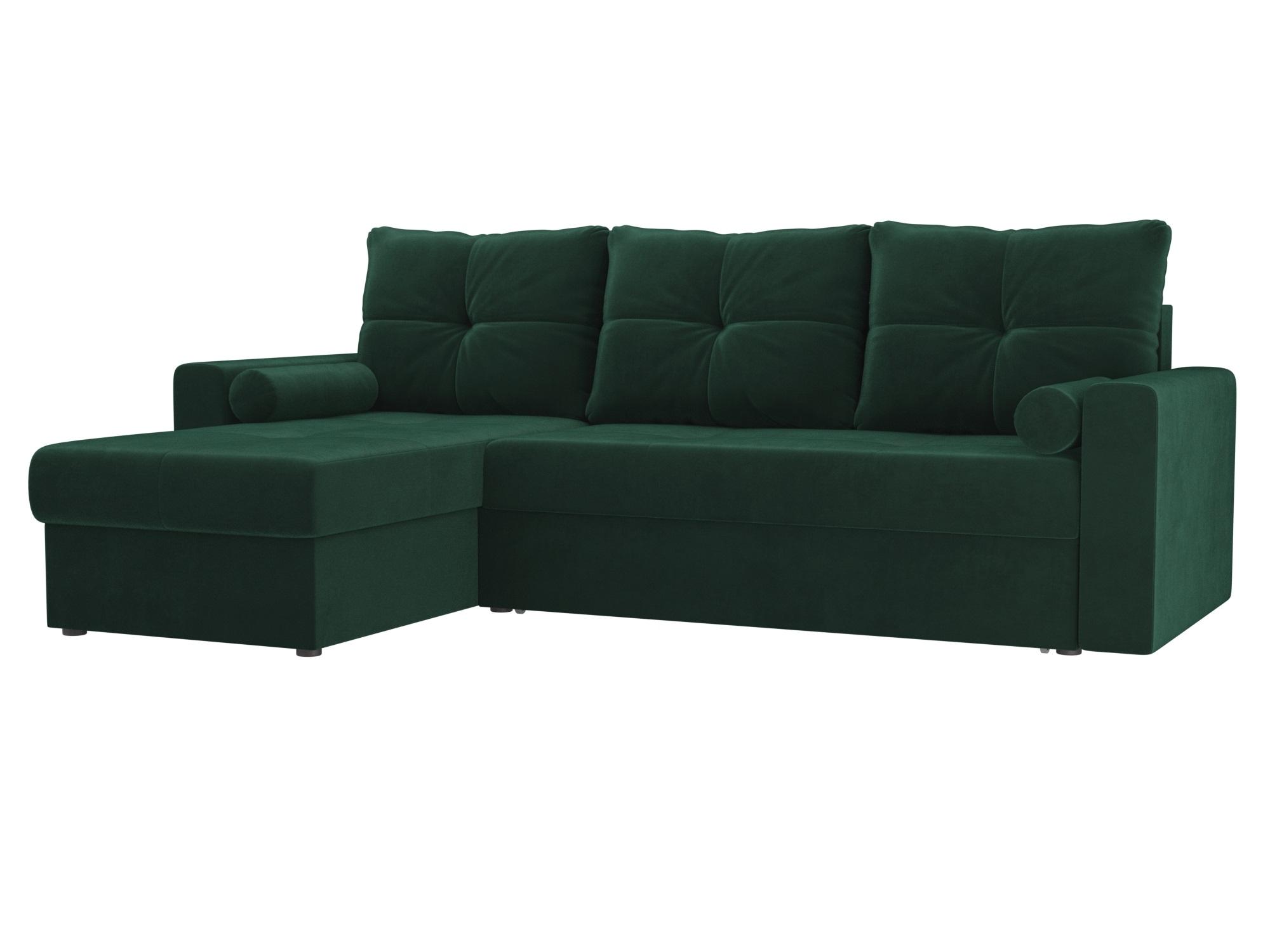 Угловой диван Верона левый MebelVia Зеленый