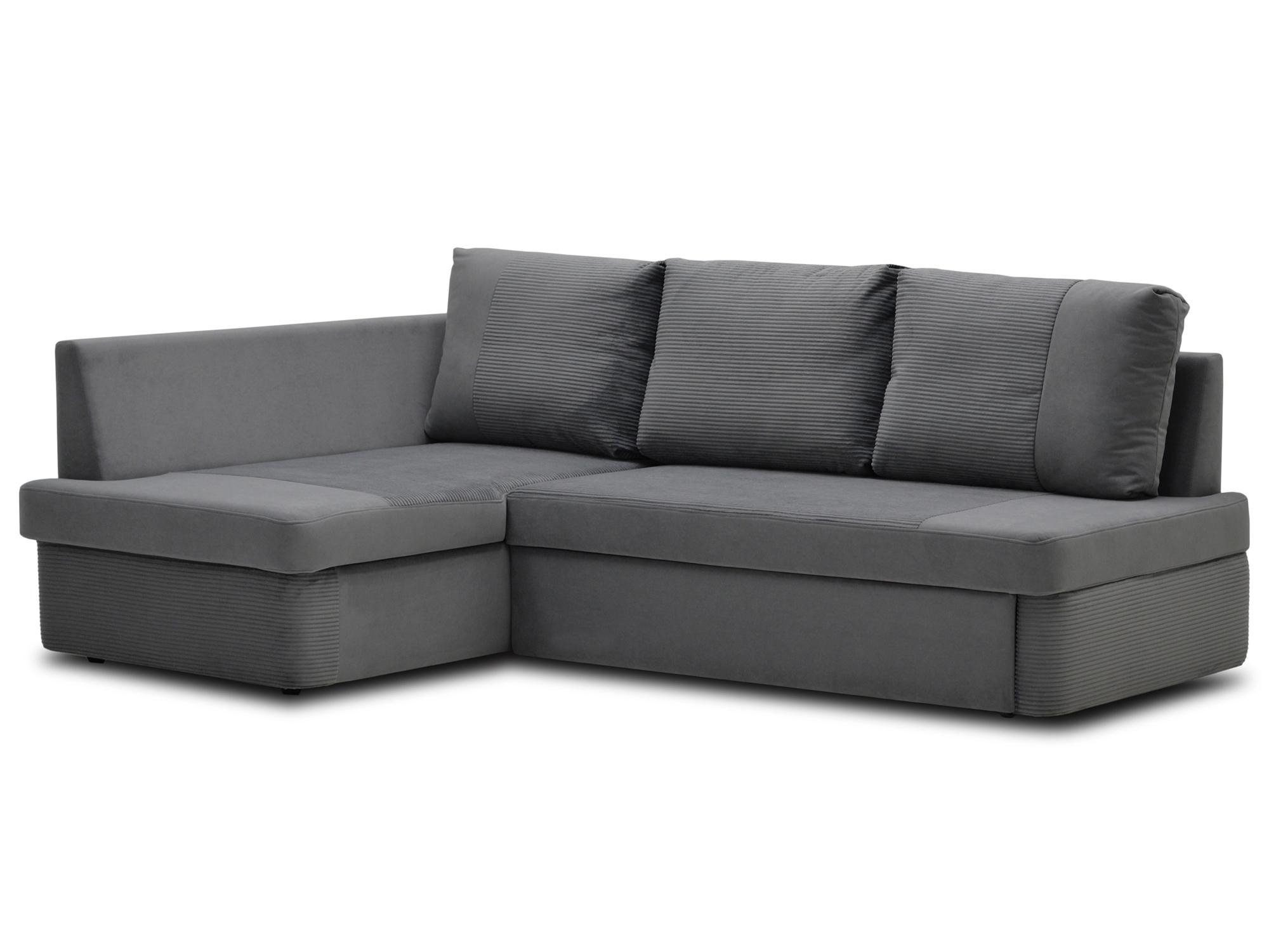 Угловой диван Спаро левый MebelVia Серый