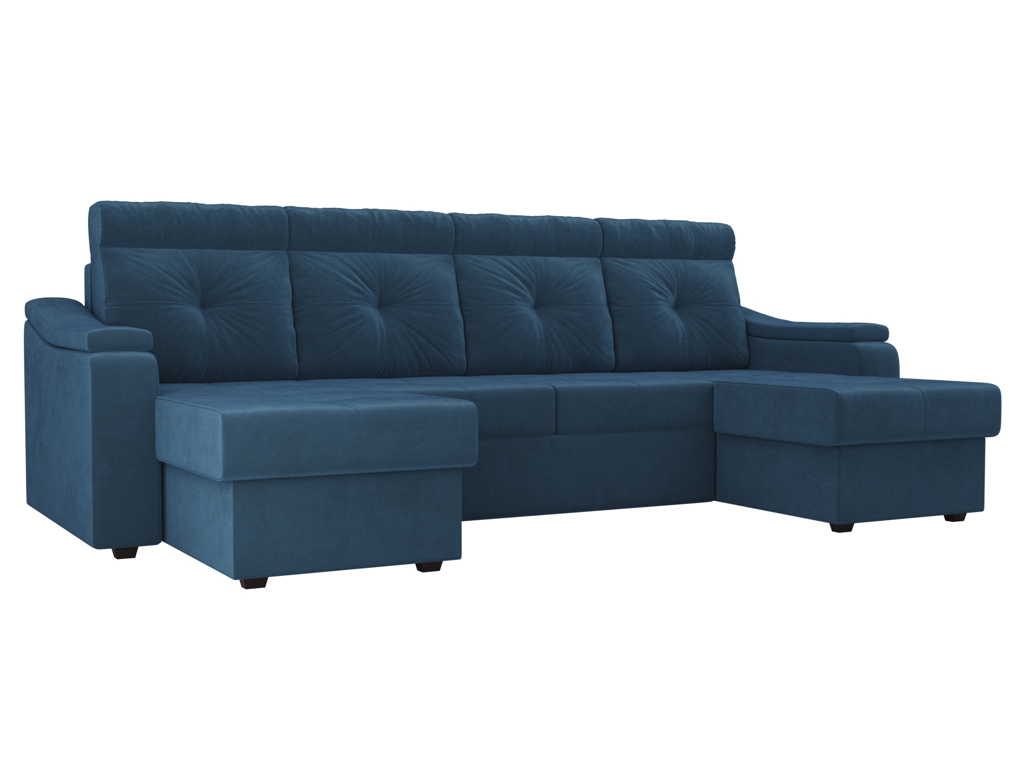 П-образный диван Джастин MebelVia Голубой