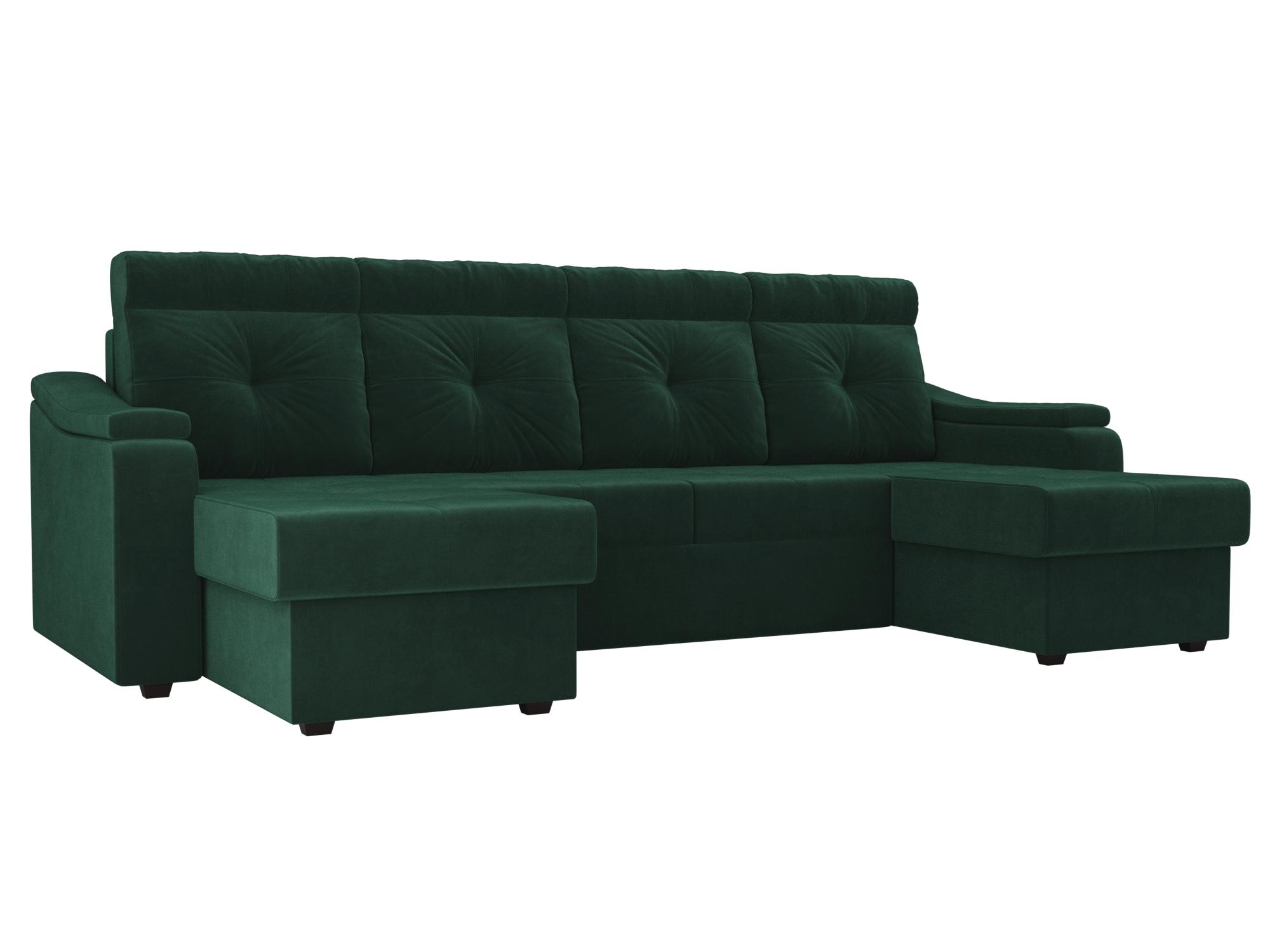 П-образный диван Джастин MebelVia Зеленый