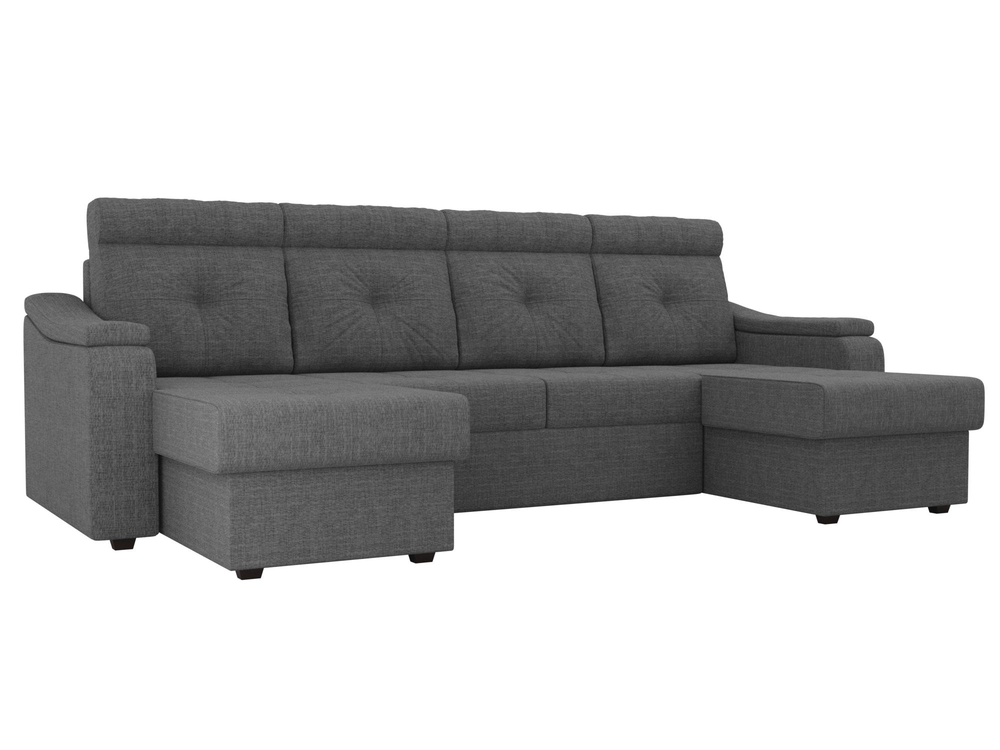 П-образный диван Джастин MebelVia Серый
