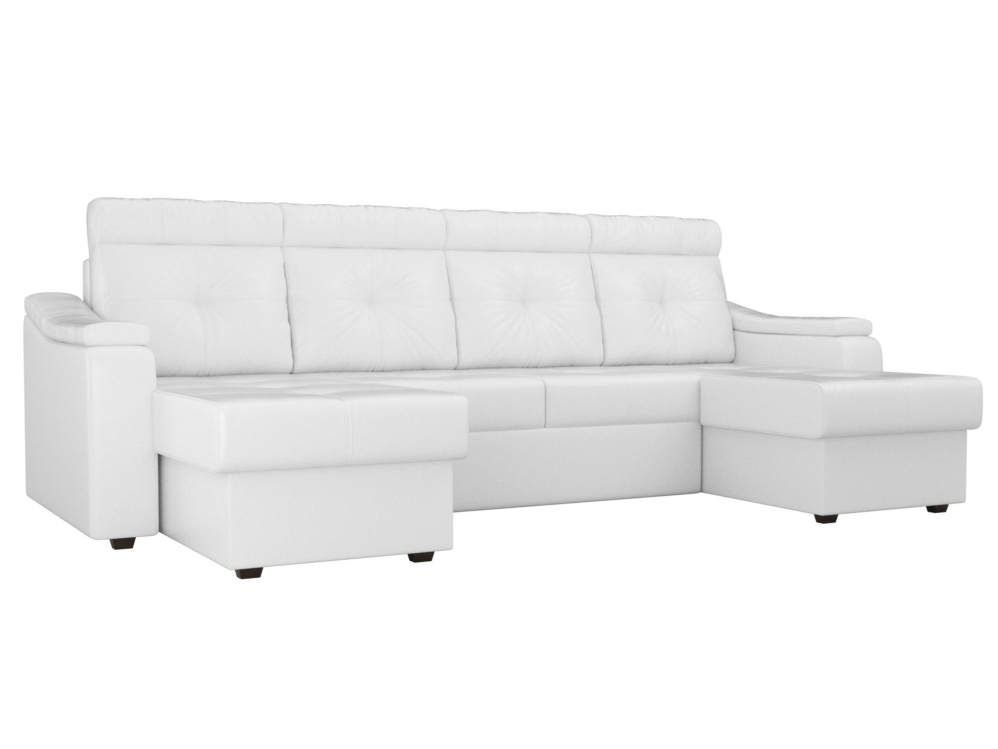 П-образный диван Джастин MebelVia Белый