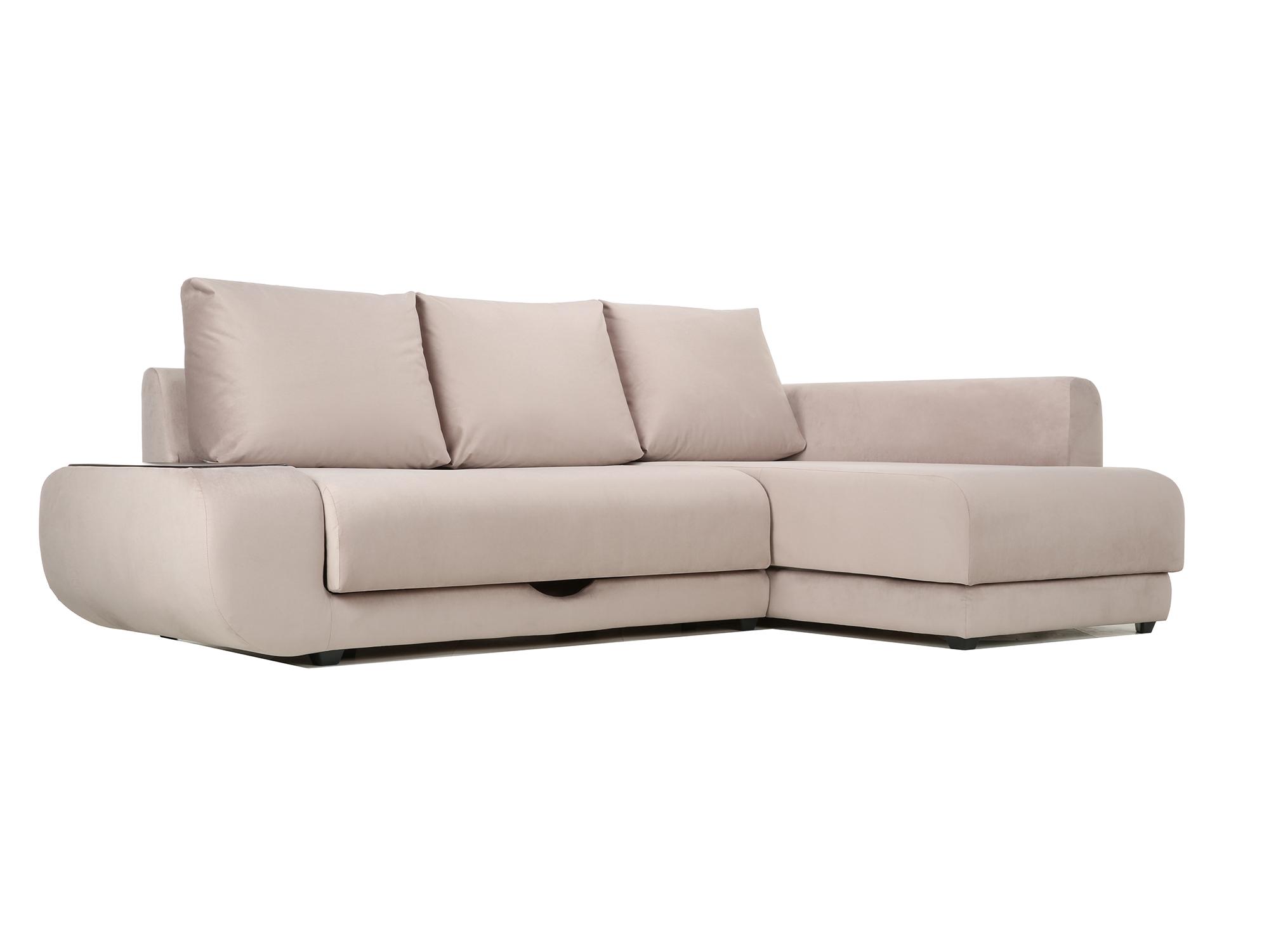Угловой диван с независимым пружинным блоком Поло ПБ (Нью-Йорк) Правый MebelVia Бежевый
