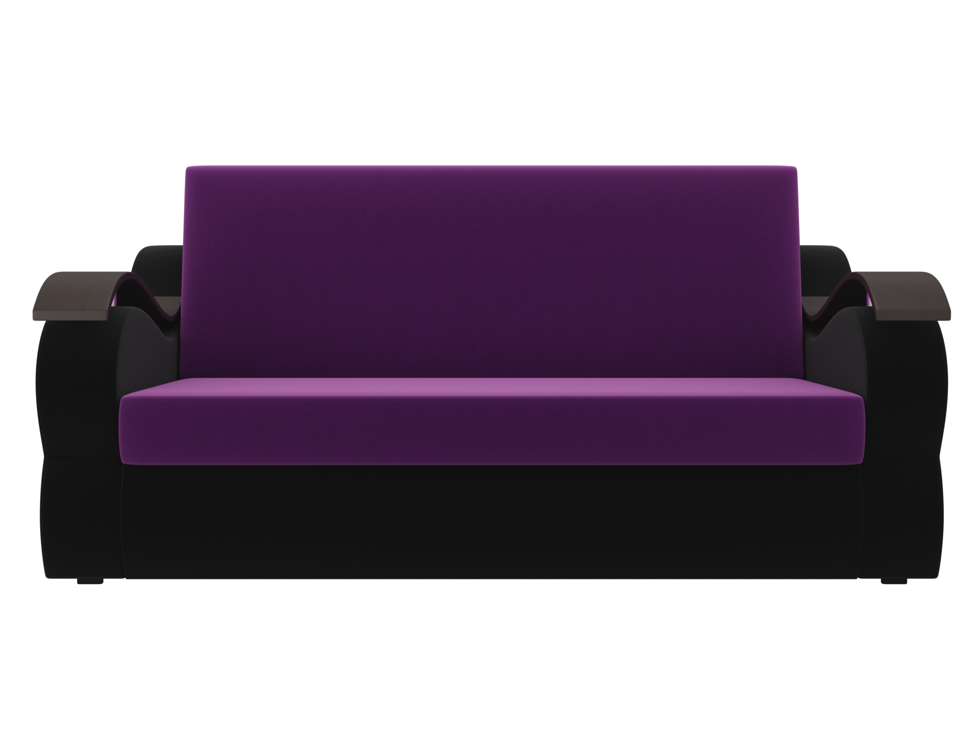 Диван Меркурий (140х190) MebelVia Фиолетовый, Черный
