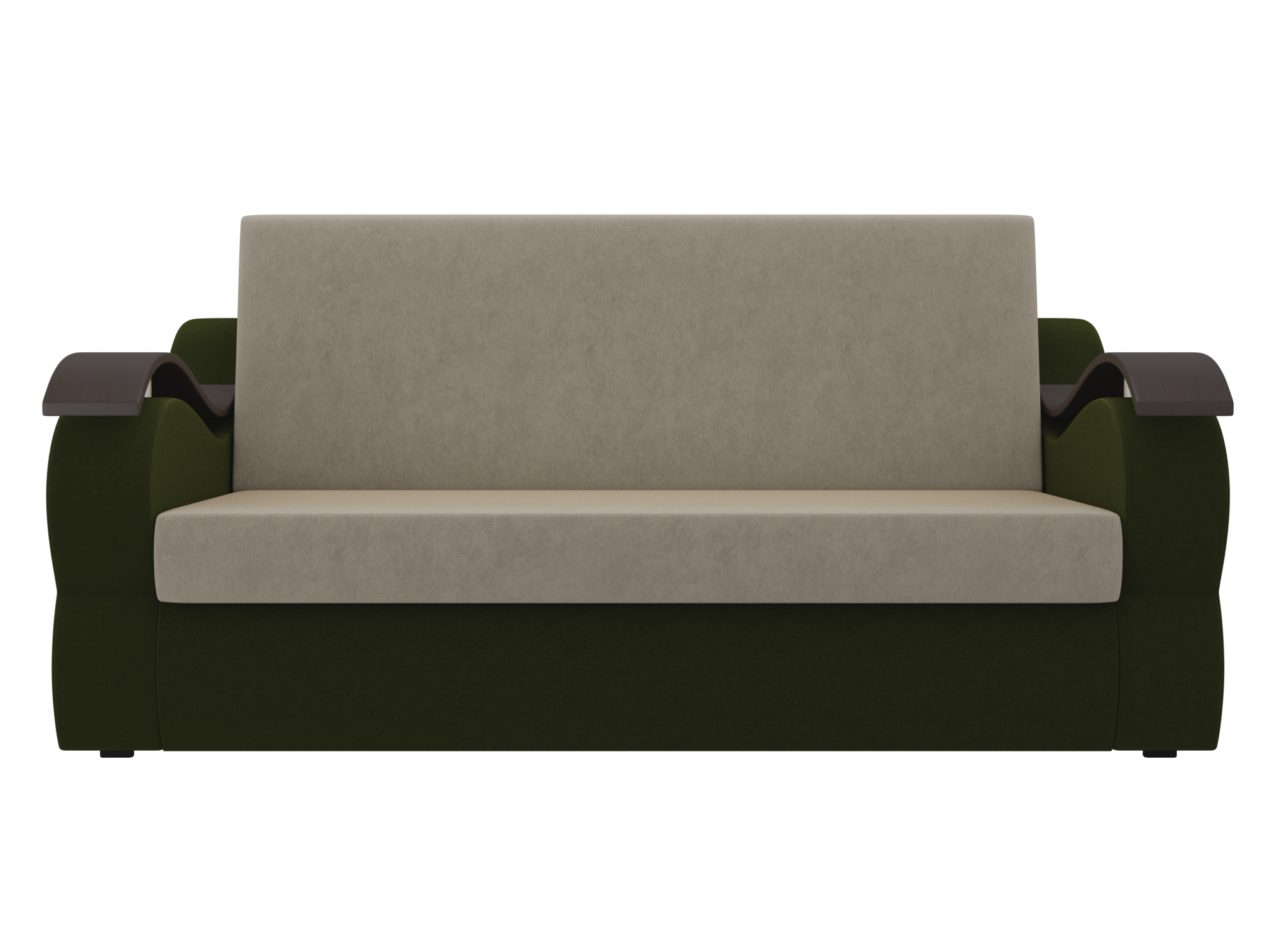 Диван Меркурий (160х190) MebelVia Бежевый, Зеленый