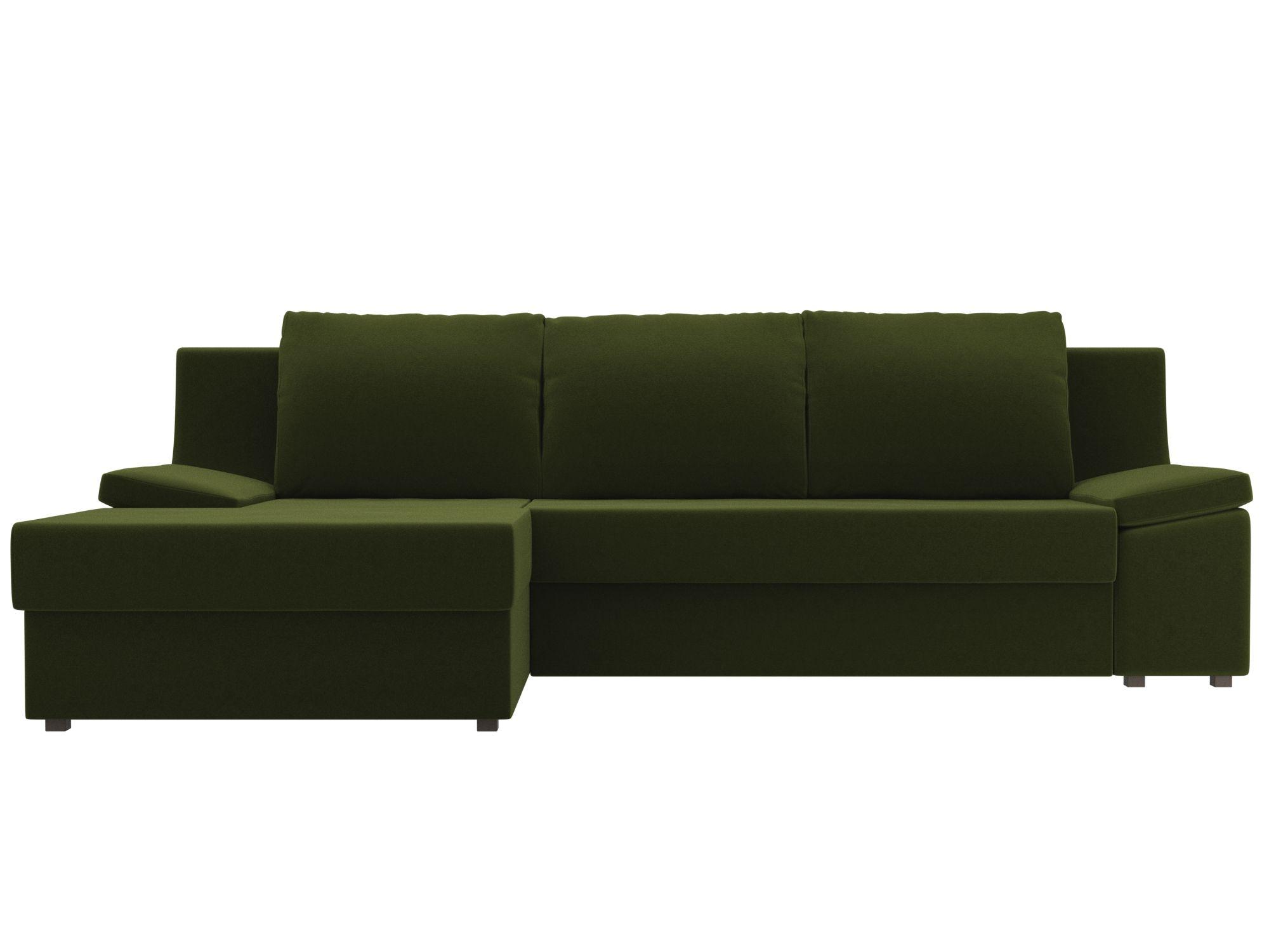 Угловой диван Челси Левый MebelVia Зеленый