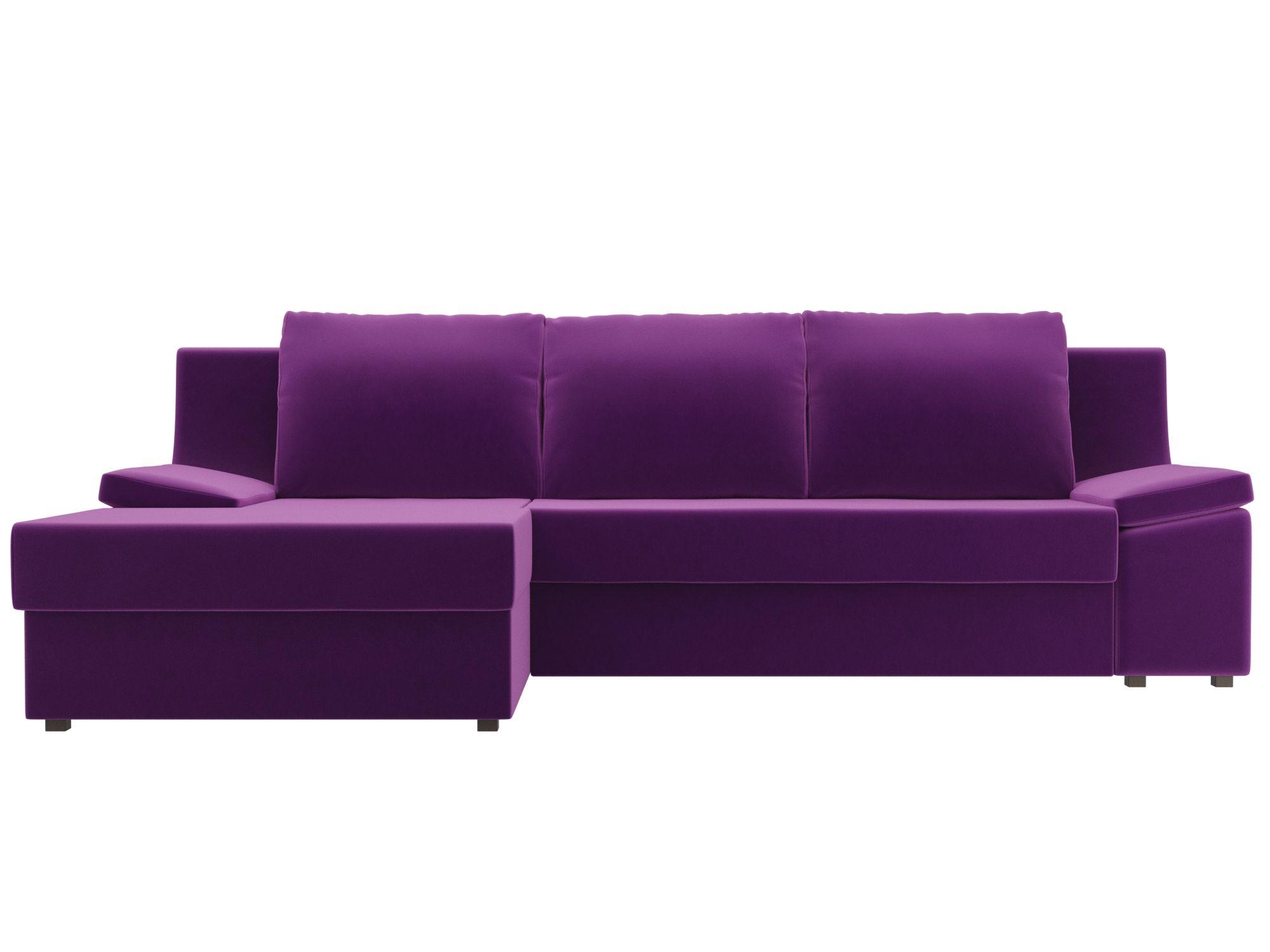 Угловой диван Челси Левый MebelVia Фиолетовый
