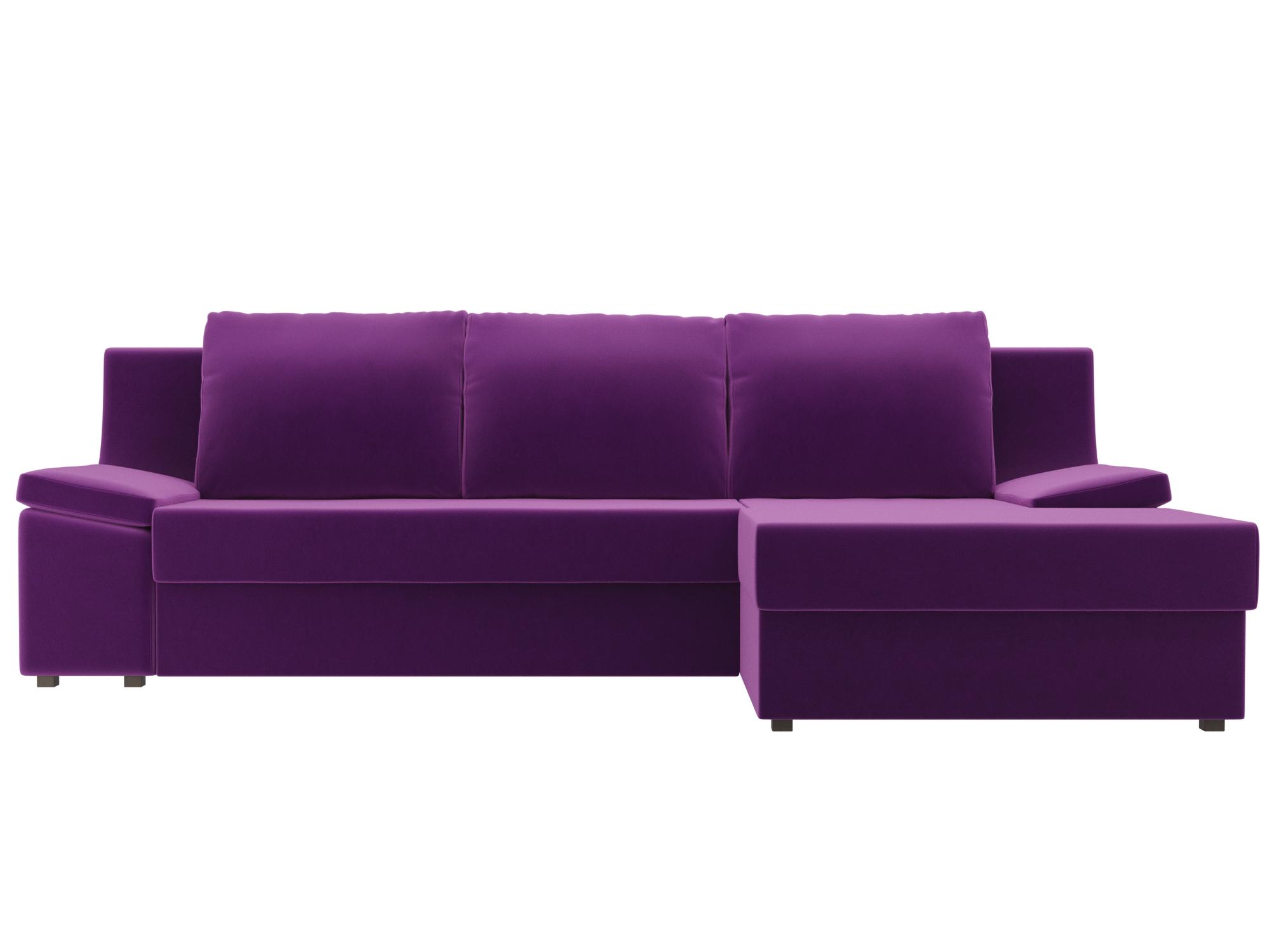 Угловой диван Челси Правый MebelVia Фиолетовый