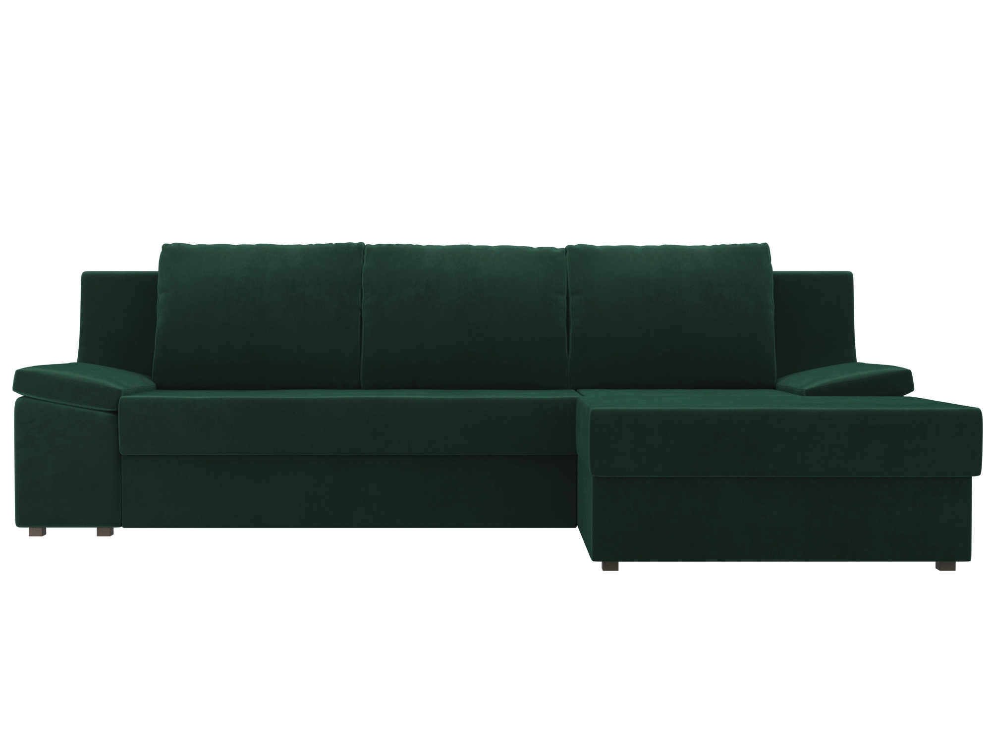 Угловой диван Челси Правый MebelVia Зеленый