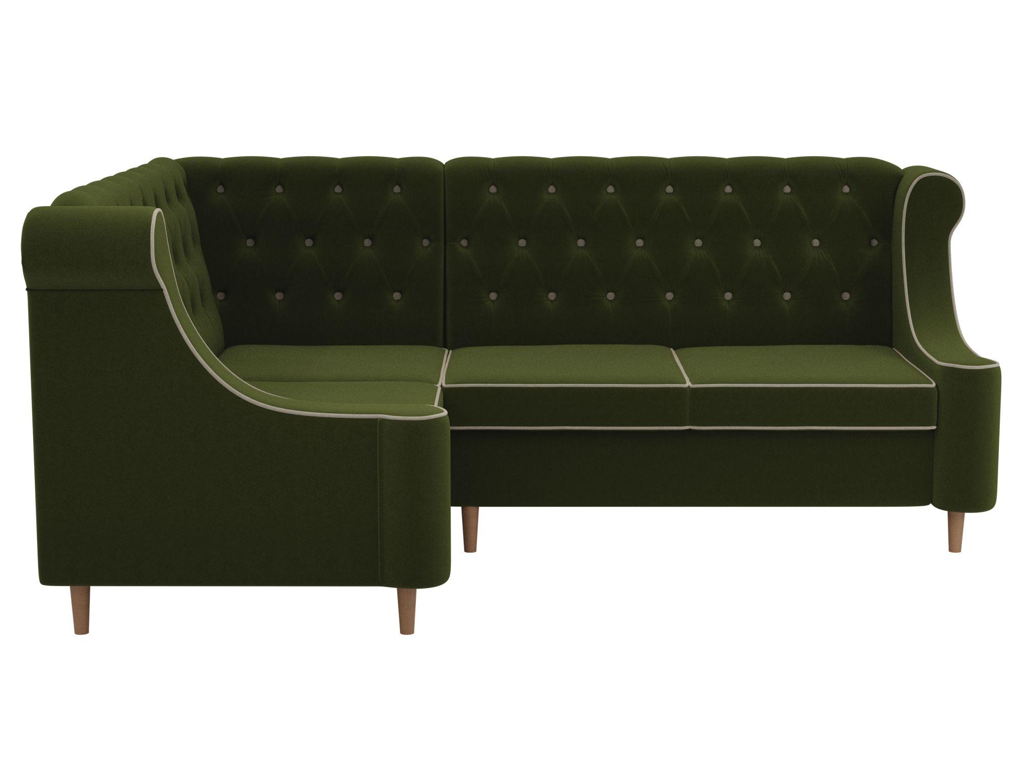 Угловой диван Бронкс Левый MebelVia Зеленый