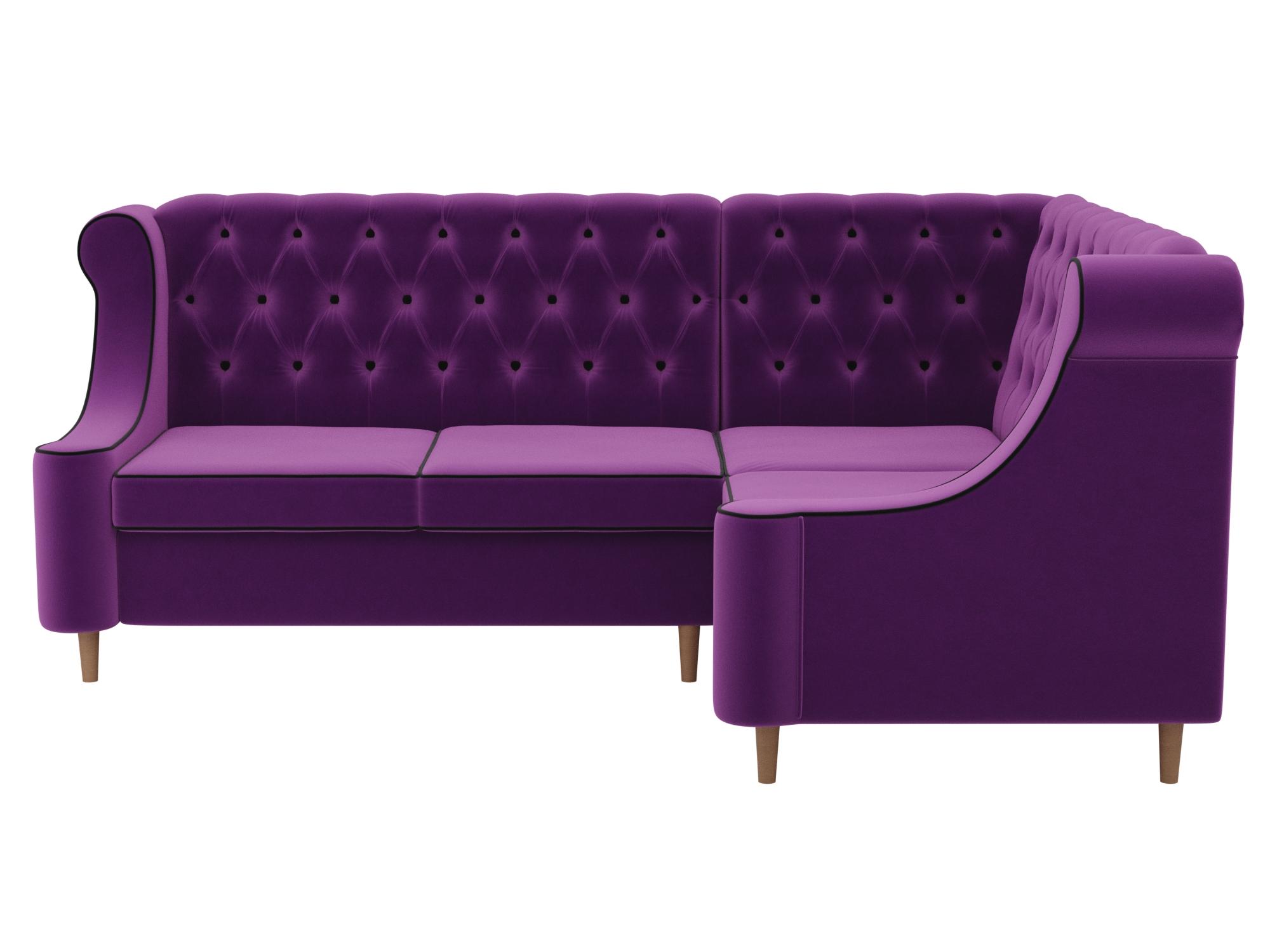 Угловой диван Бронкс Правый MebelVia Фиолетовый