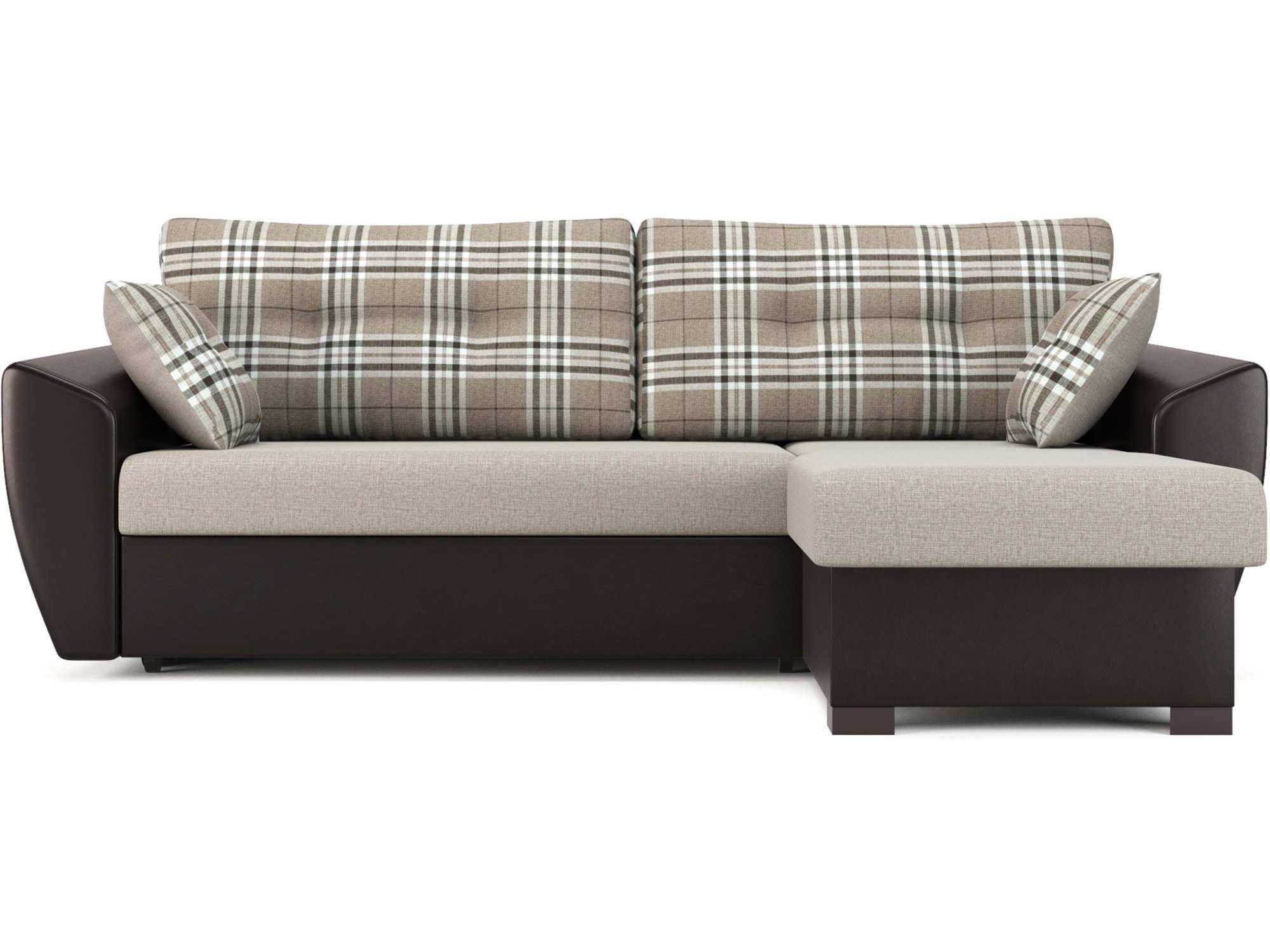 Угловой диван Кокос (Амстердам) MebelVia Коричневый, Коричневый темный
