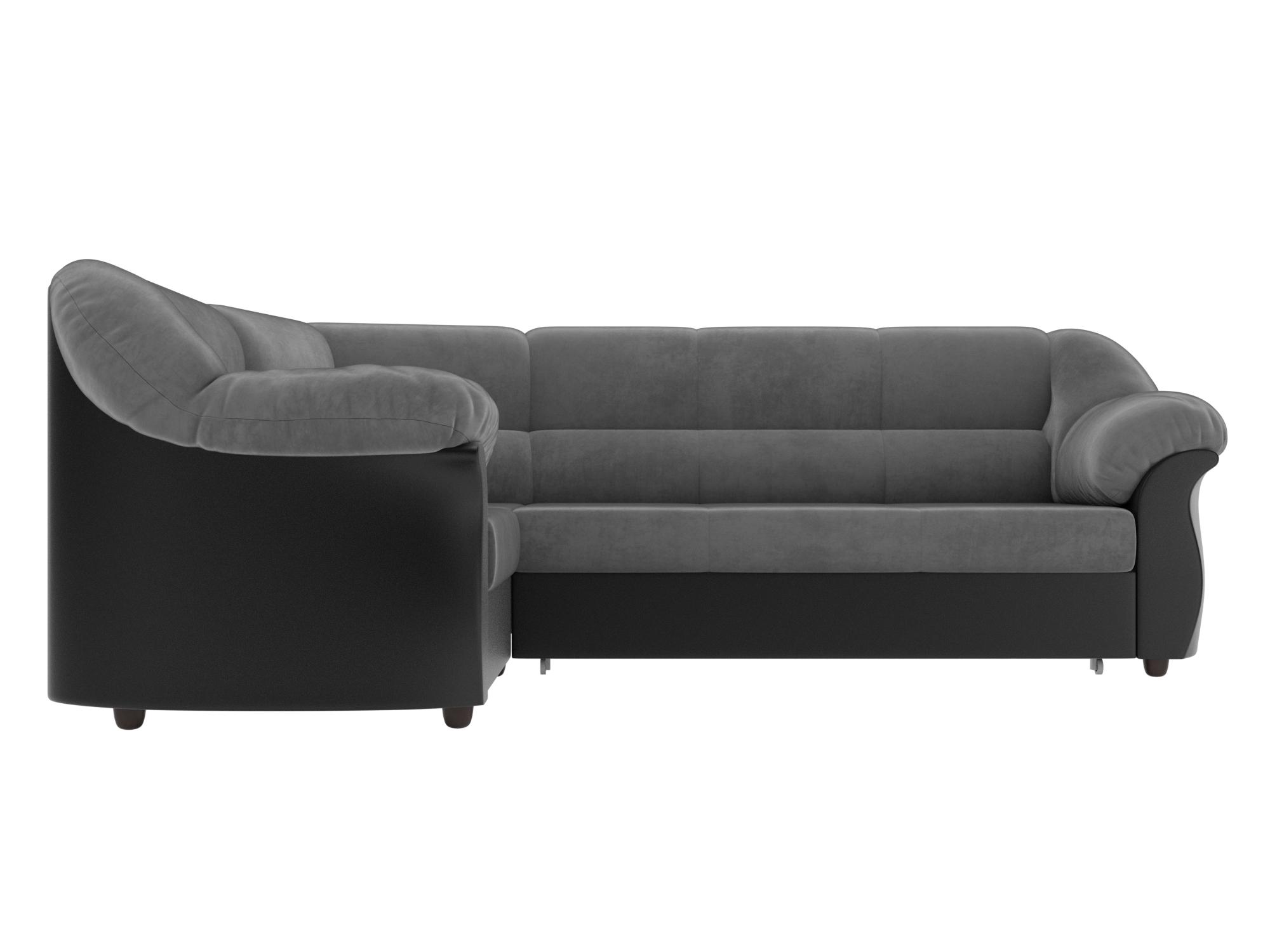 Угловой диван Карнелла Левый MebelVia Серый, Черный