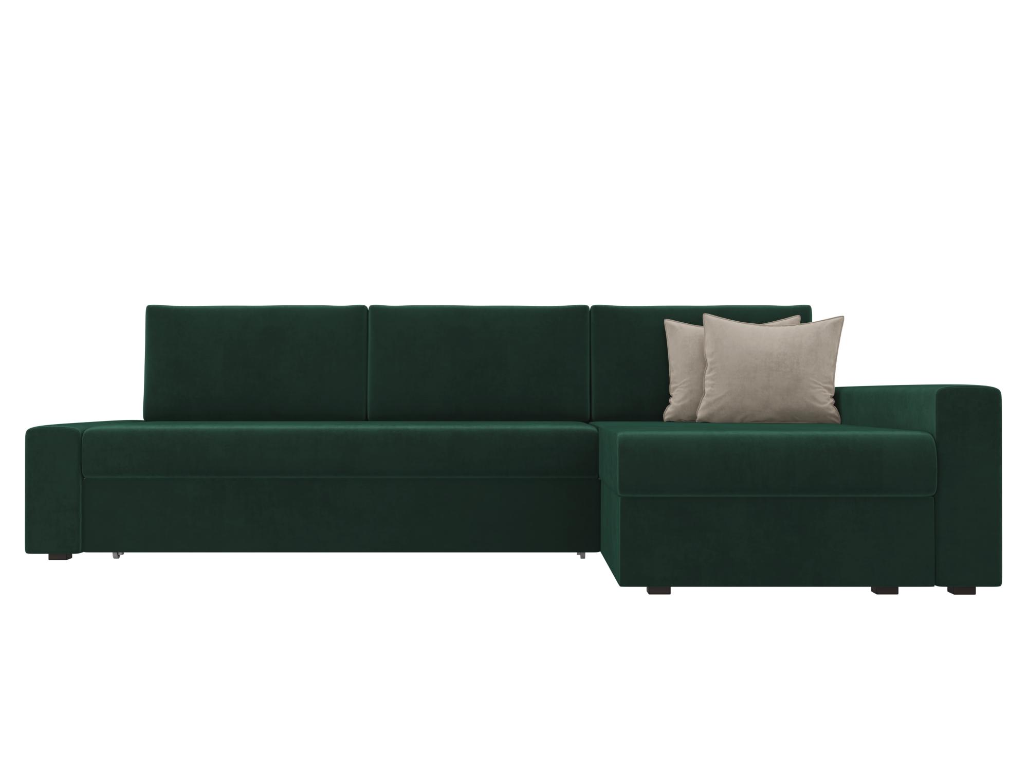 Угловой диван Версаль Правый MebelVia Зеленый