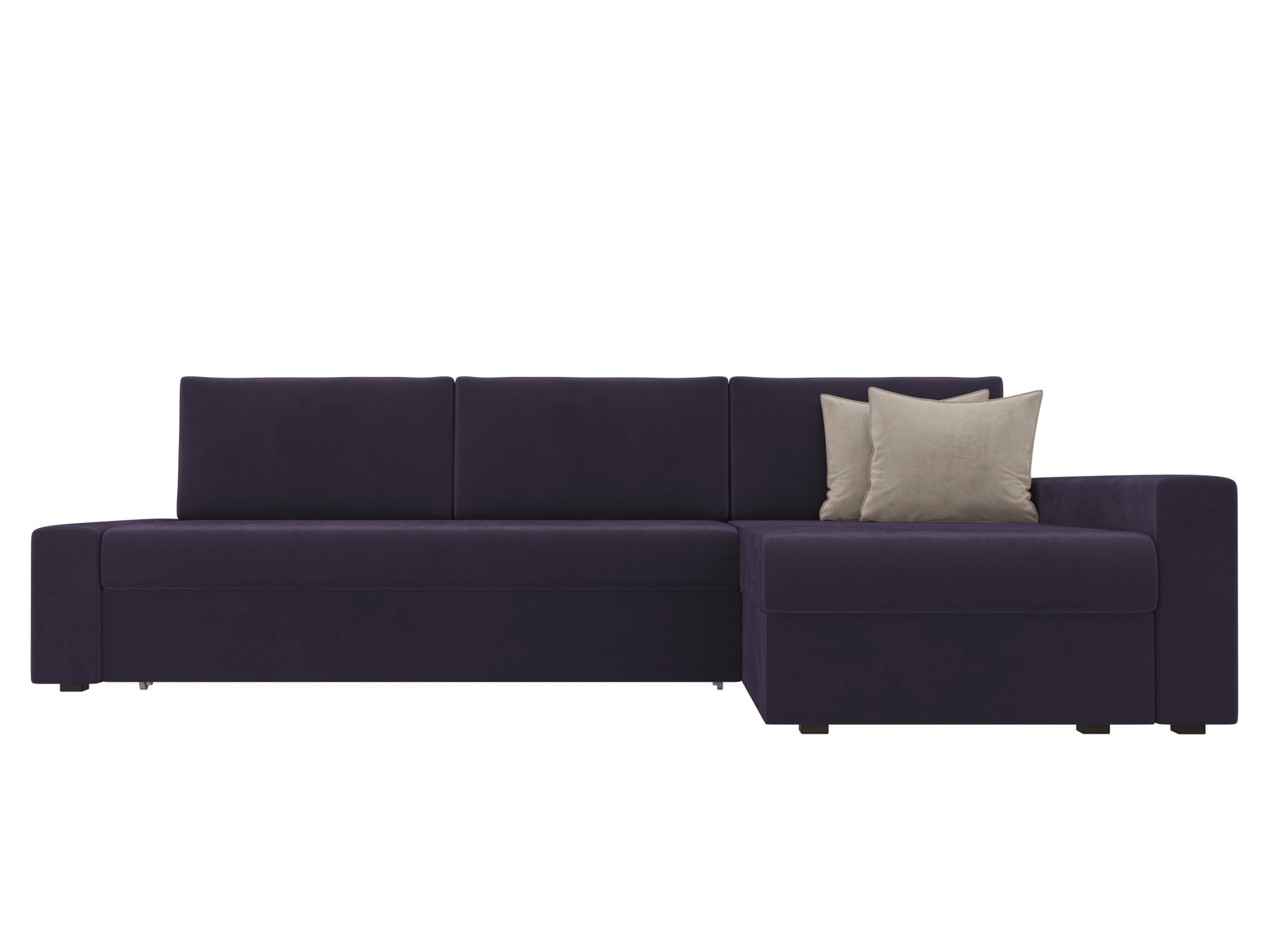 Угловой диван Версаль Правый MebelVia Фиолетовый