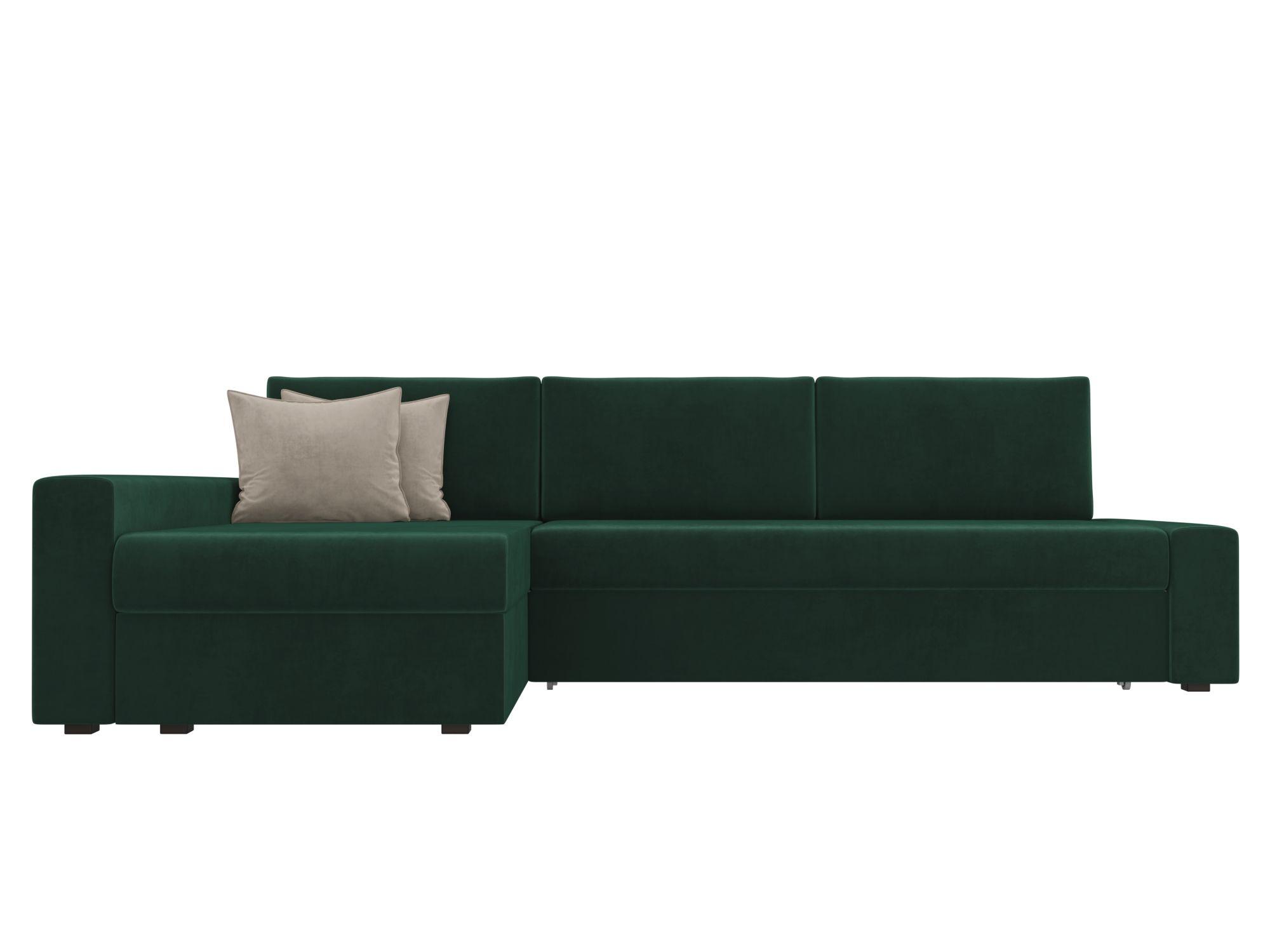 Угловой диван Версаль Левый MebelVia Зеленый
