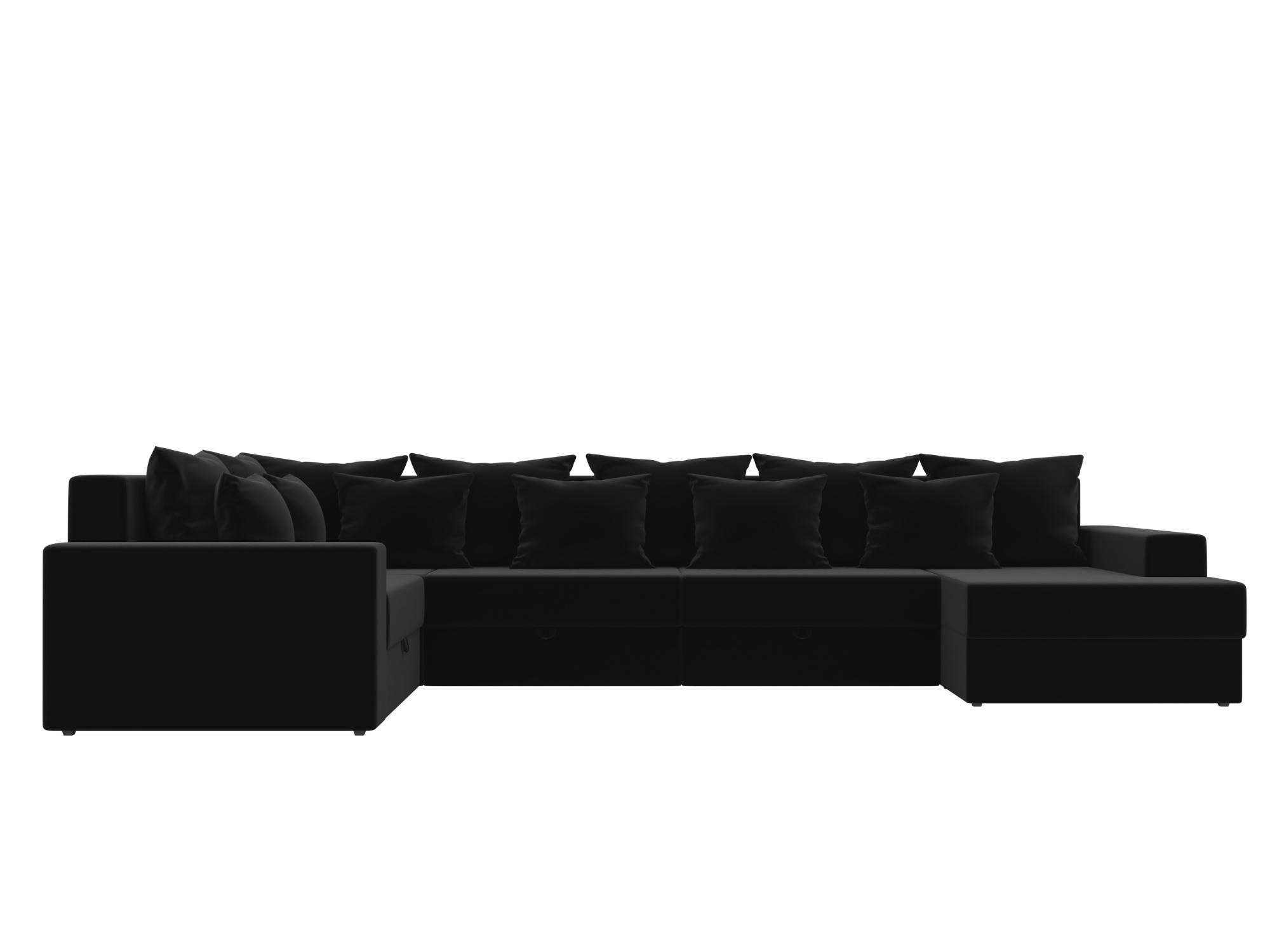 Угловой диван Мэдисон-П Правый угол MebelVia Белый, Черный