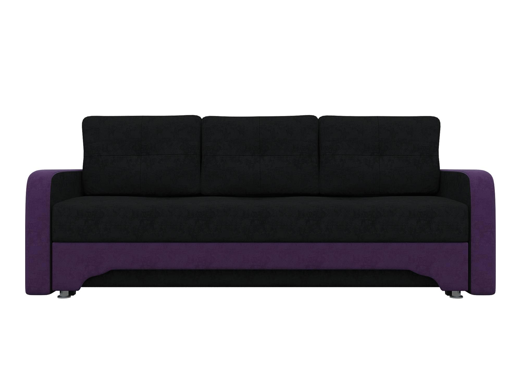 Диван Нолан 3 MebelVia Фиолетовый, Черный