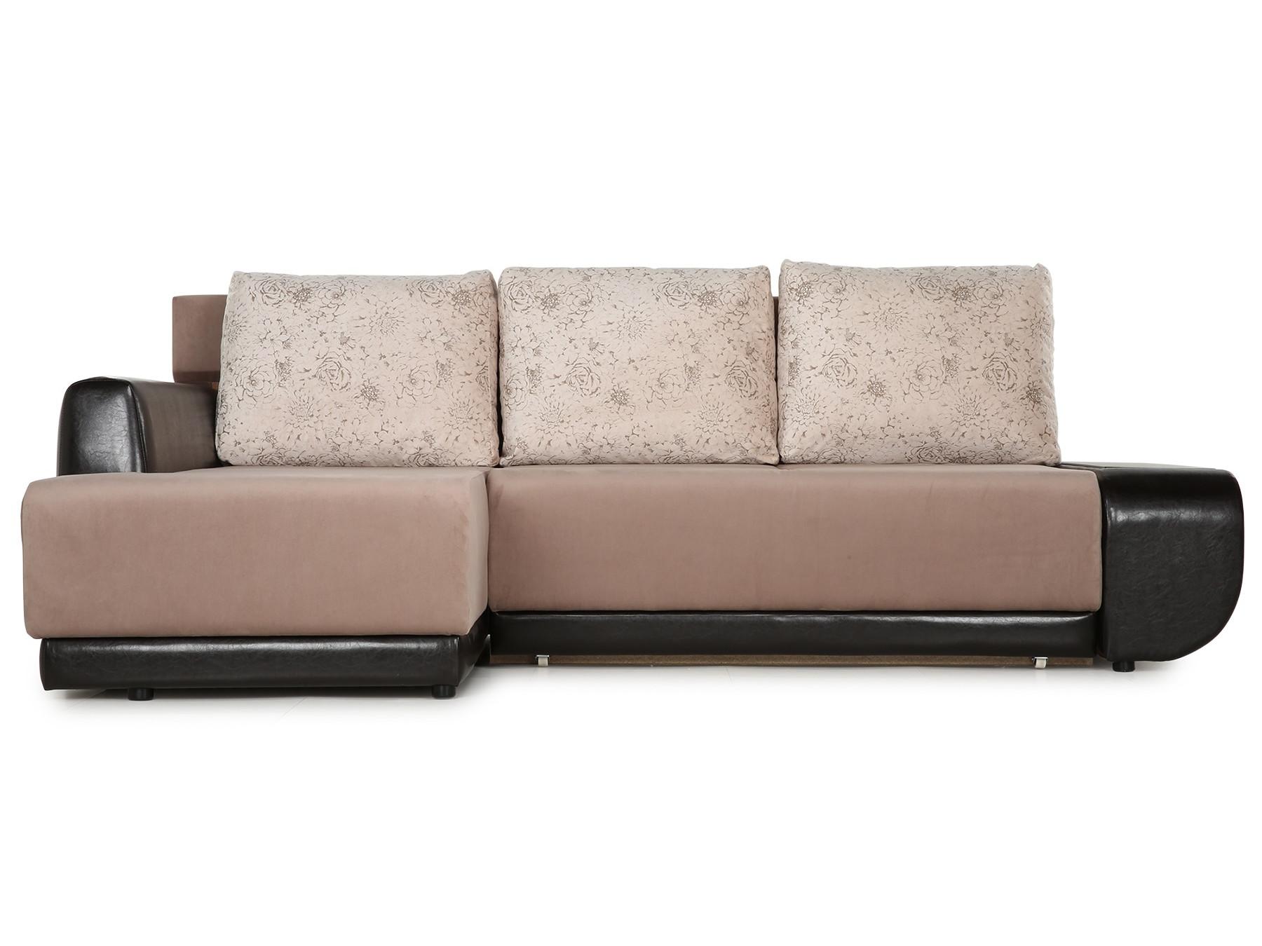 Угловой диван Поло (Нью-Йорк) Левый MebelVia Бежевый, Коричневый