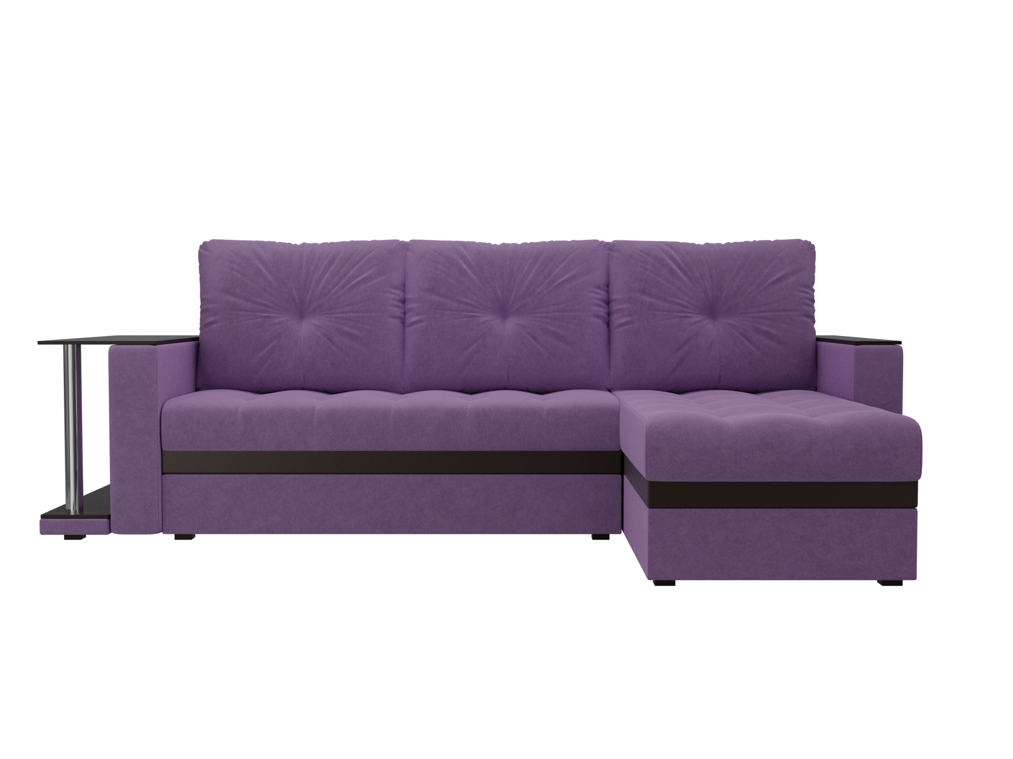 Угловой Диван Атланта М Правый MebelVia Фиолетовый
