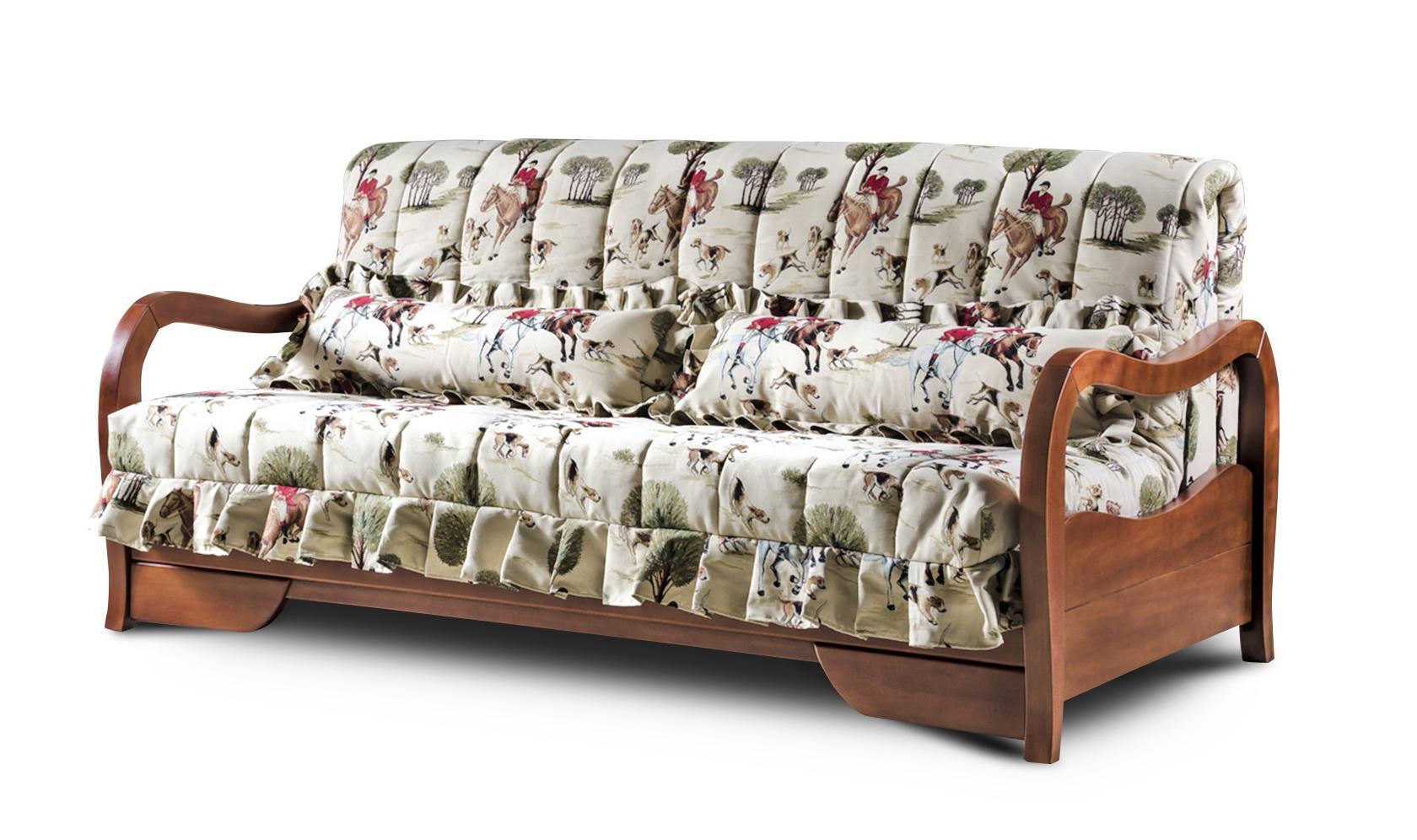 Фиеста диван аккордеон Гранада с деревянными подлокотниками