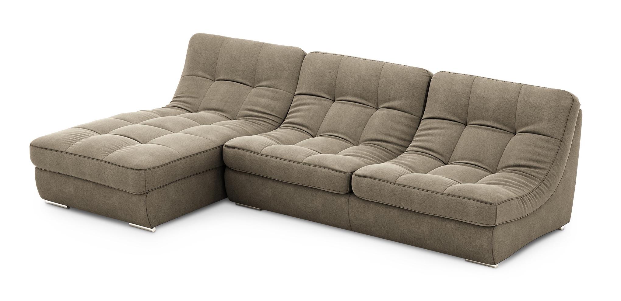 Фиеста угловой диван Палермо с оттоманкой