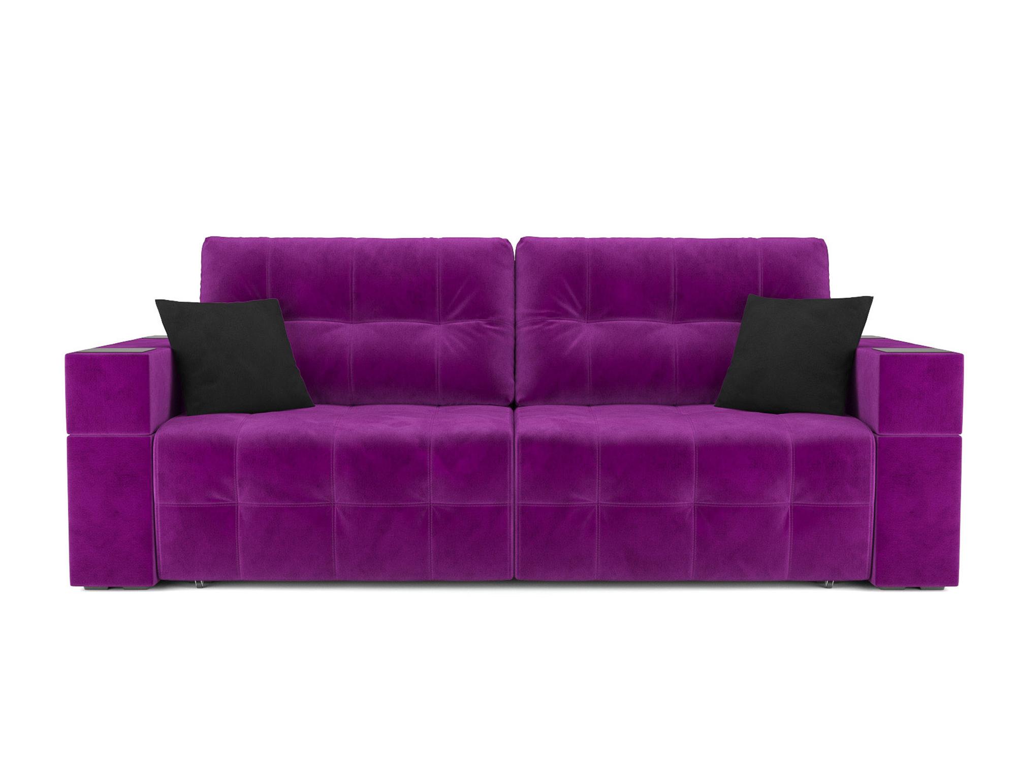Диван Венеция (Еврокнижка) MebelVia Фиолетовый, Микровельвет, Брус со Фиолетовый