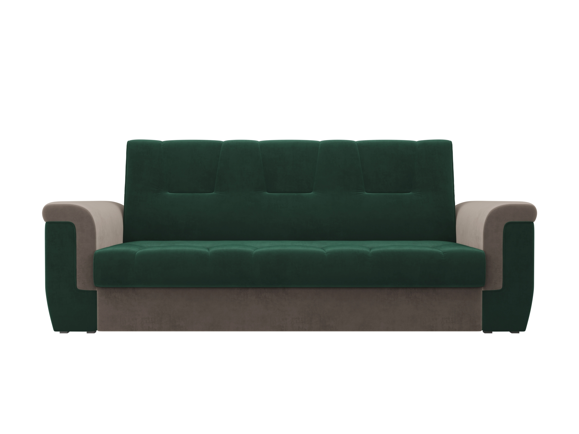 Диван Эллиот MebelVia Зеленый, Коричневый, Велюр, ЛДСП Зеленый, Коричневый