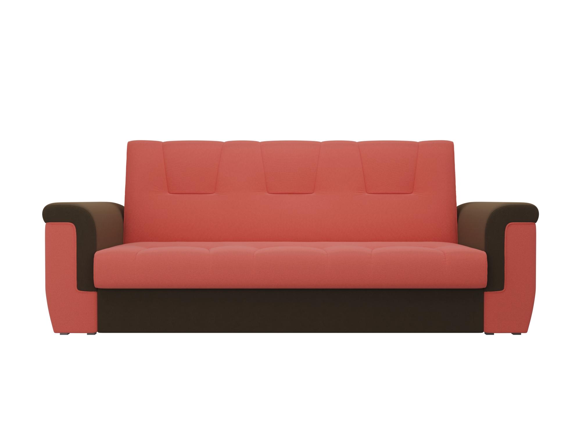 Диван Эллиот MebelVia Красный, Коричневый, Микровельвет, ЛДСП Коричневый, Красный