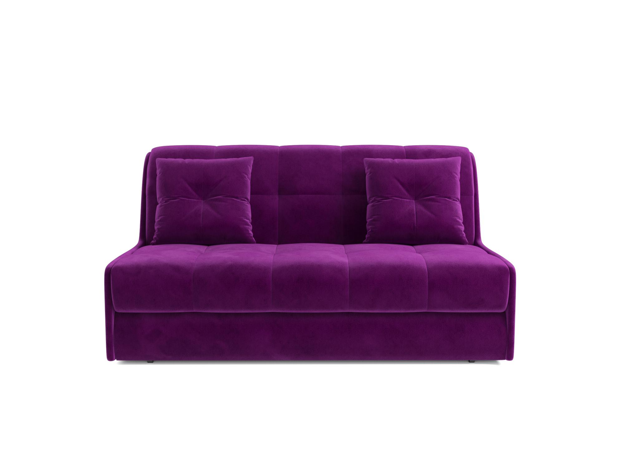 Диван Барон 2 MebelVia Фиолетовый, Микровельвет, ДСП, Массив сосны, Мет Фиолетовый