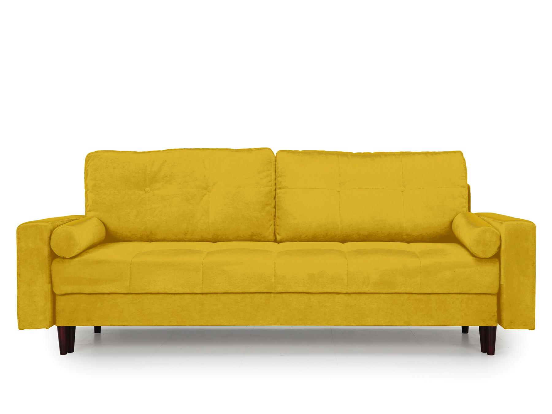 Диван-кровать Лоретт MebelVia , Желтый, Велюр, ДСП, ДВП, Брус Желтый