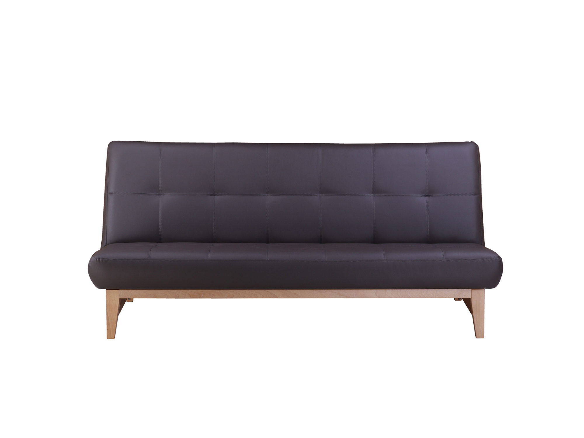 Диван-кровать Альберо MebelVia Тёмно-коричневый, Массив Бук, 100 %