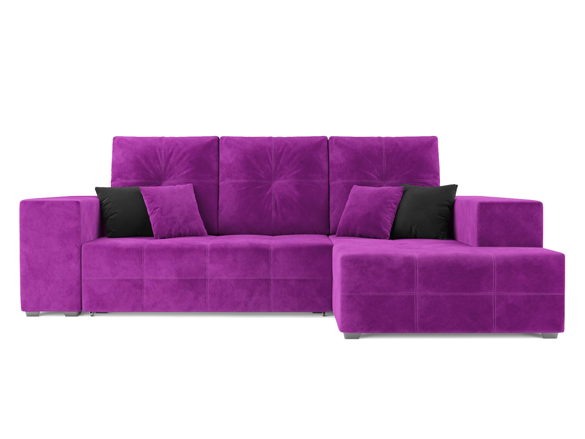 Угловой диван Монреаль Правый угол MebelVia Фиолетовый Фиолетовый