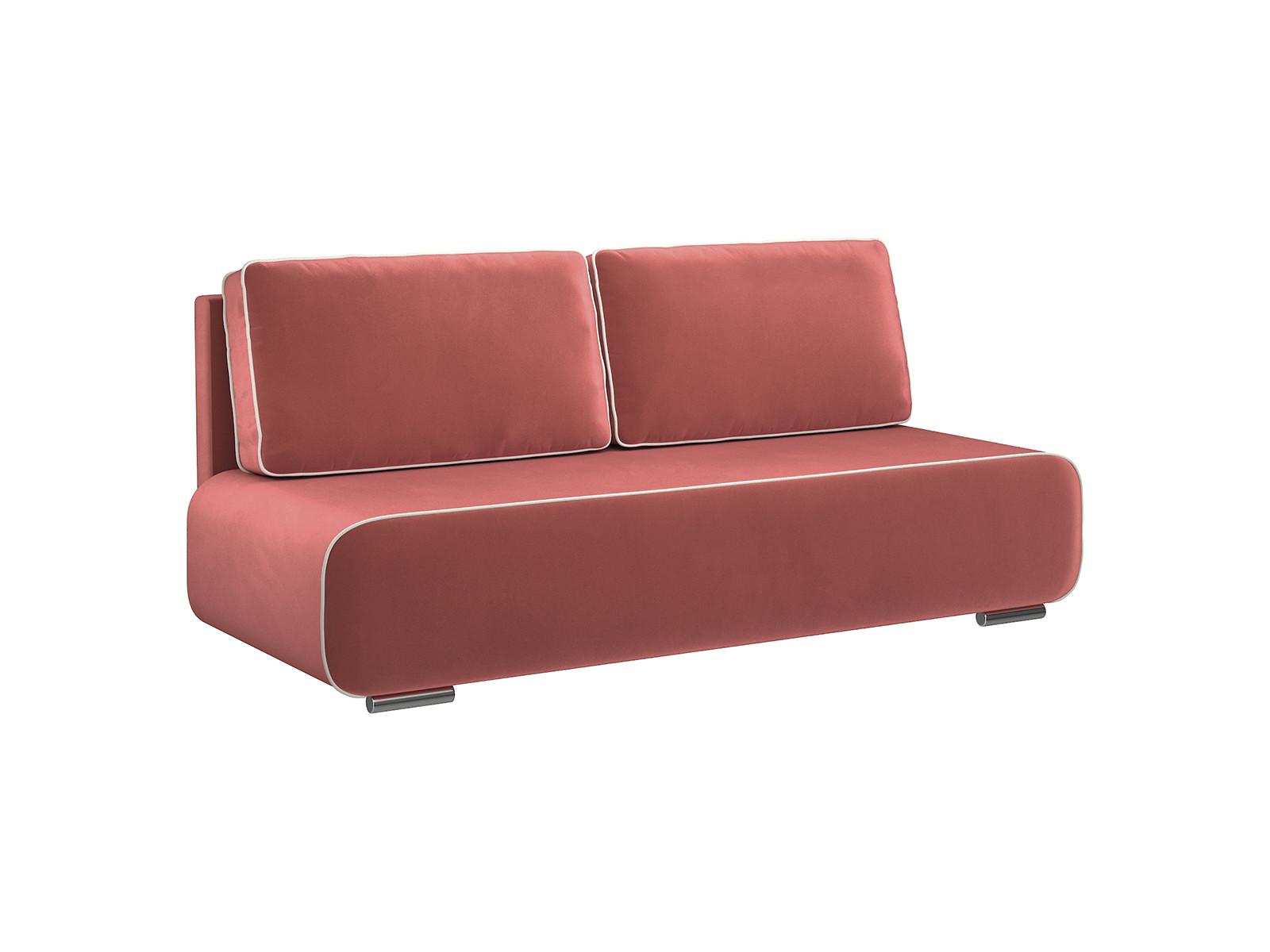 Диван тканевый прямой Лаки D1 furniture Amigo пурпурно-красный (Велюр)