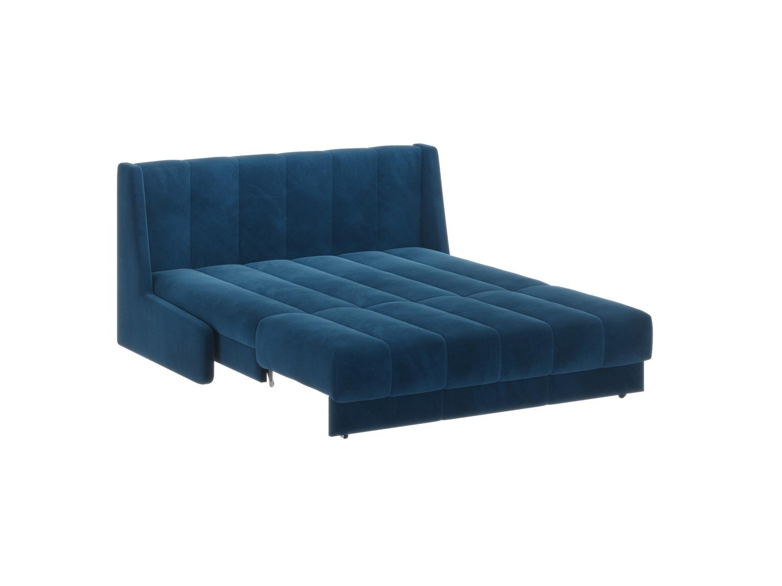 Диван тканевый прямой Венеция D1 furniture 160 см НзПБ Premier синий Синий