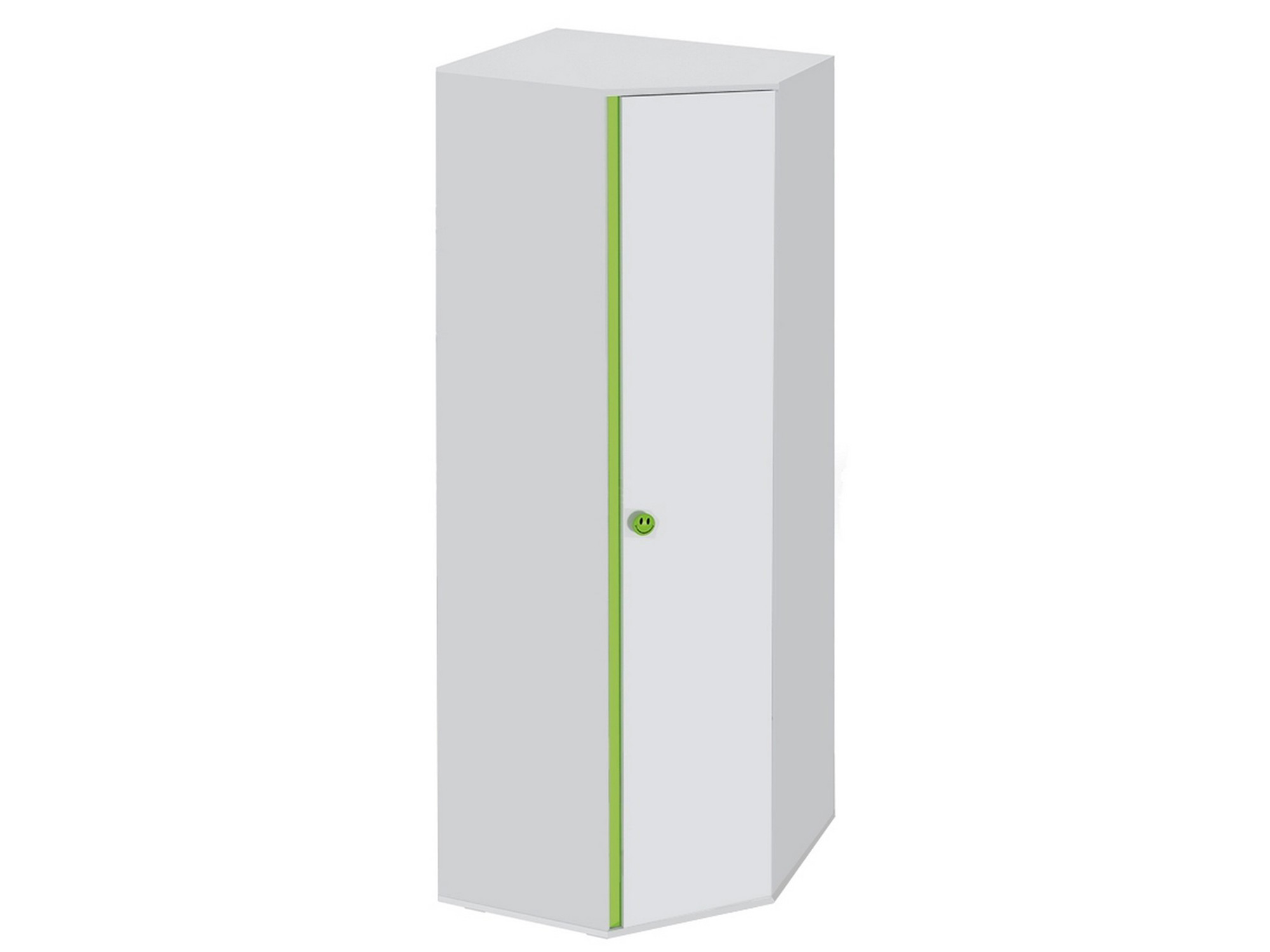 Шкаф угловой Мамба Белый, Зеленый, , ЛДСП Белый, Зеленый