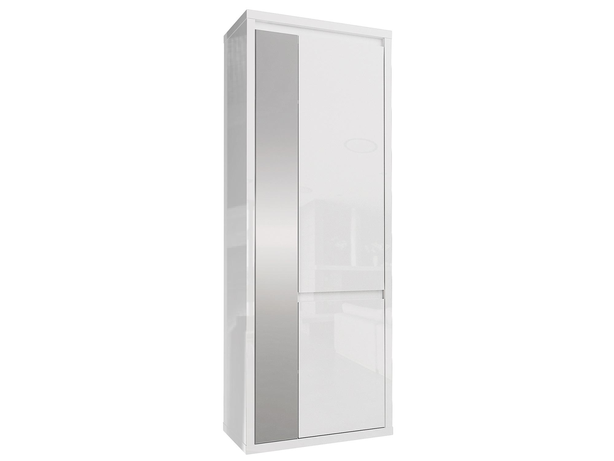 Шкаф 2-х дверный Норден Белый глянец, , Белый, ЛДСП, Зеркало Белый, Белый глянец