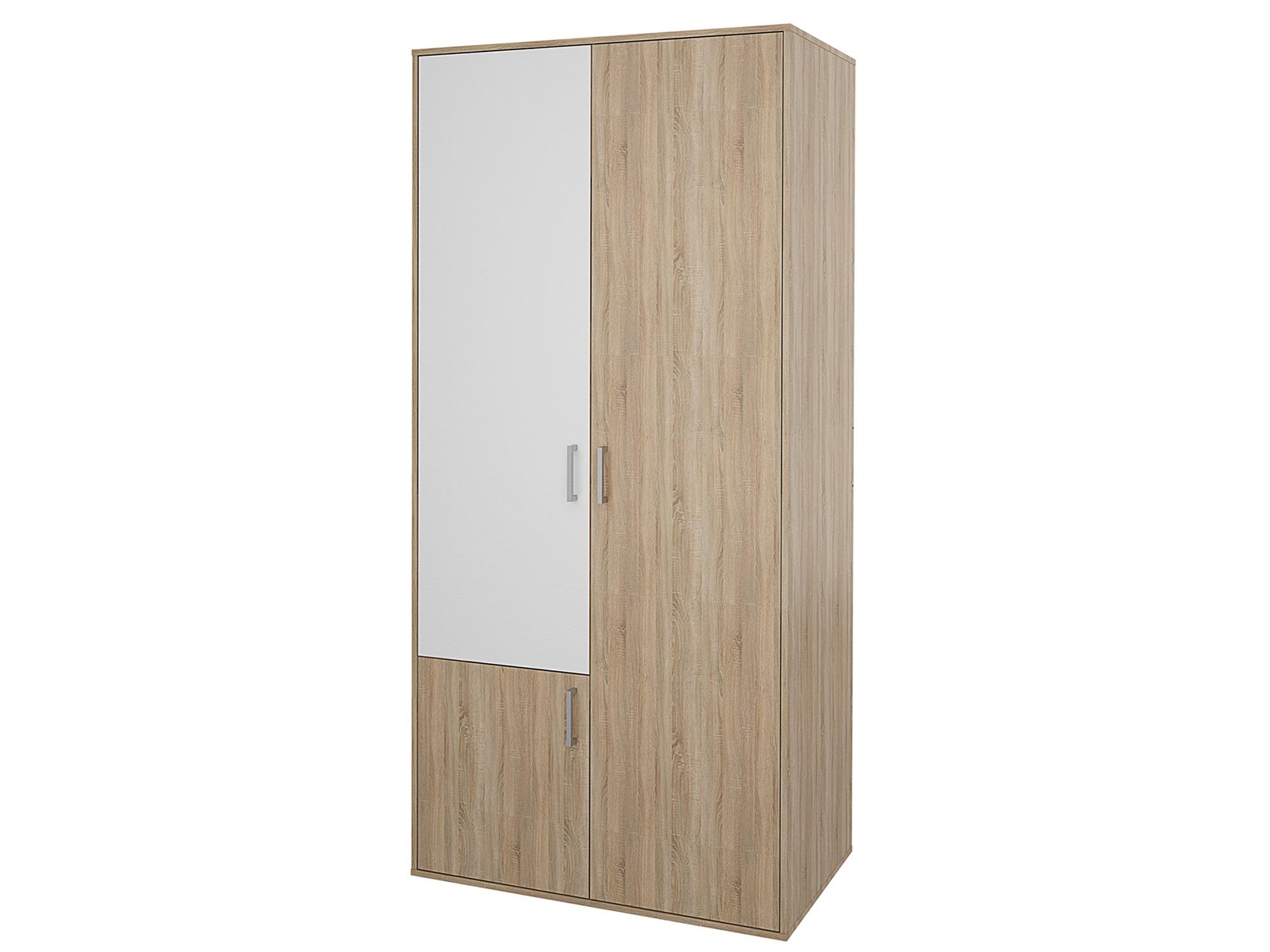 Шкаф 3-х дверный Мика Дуб сонома, Белый, Бежевый, ЛДСП, КДСП Бежевый, Белый, Дуб сонома