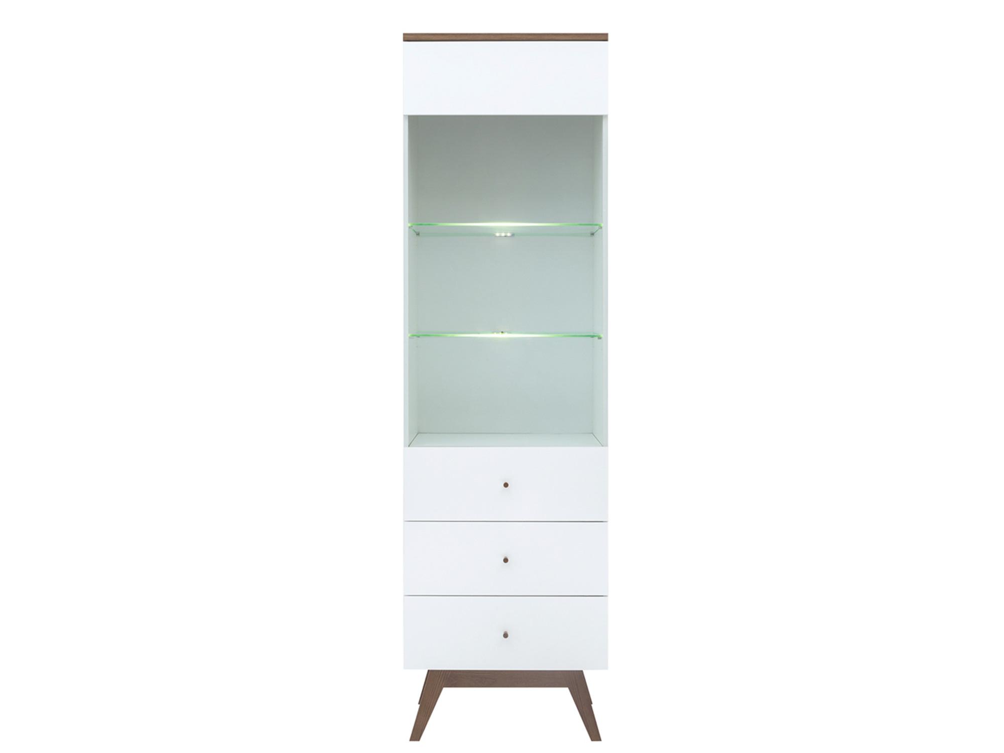 Шкаф с подсветкой Хеда Белый, Белый блеск
