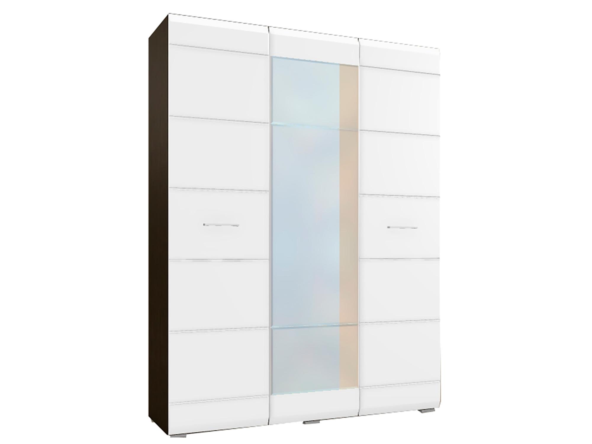 Шкаф 3-х дверный Николь Белый глянец