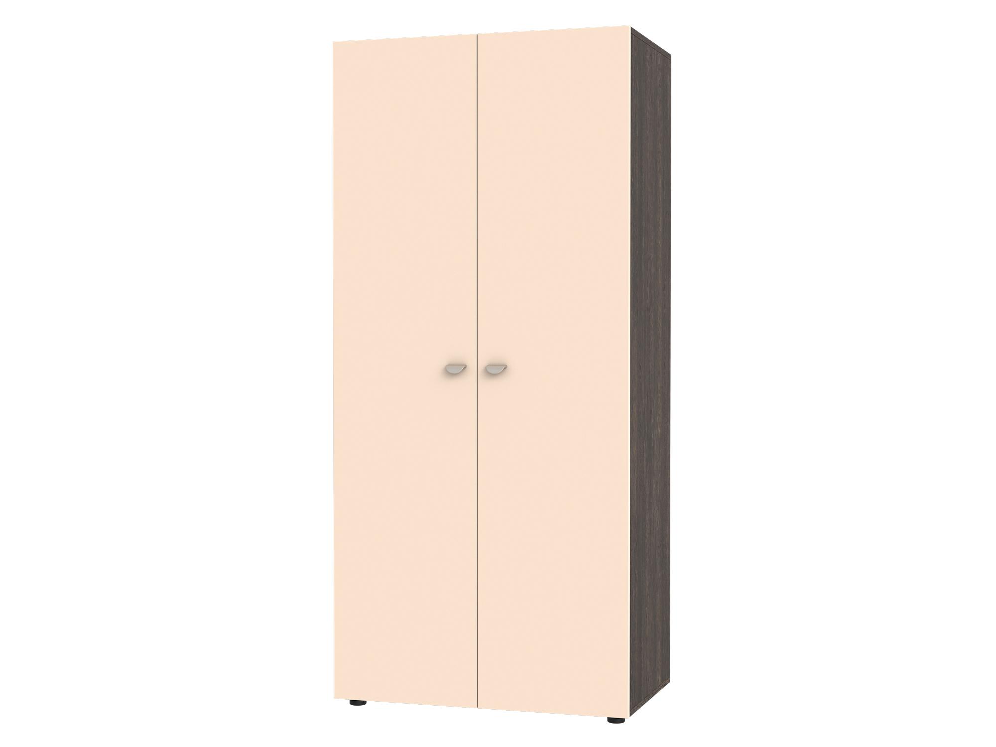 Шкаф 2-х дверный Golden Kids Бежевый, Коричневый темный