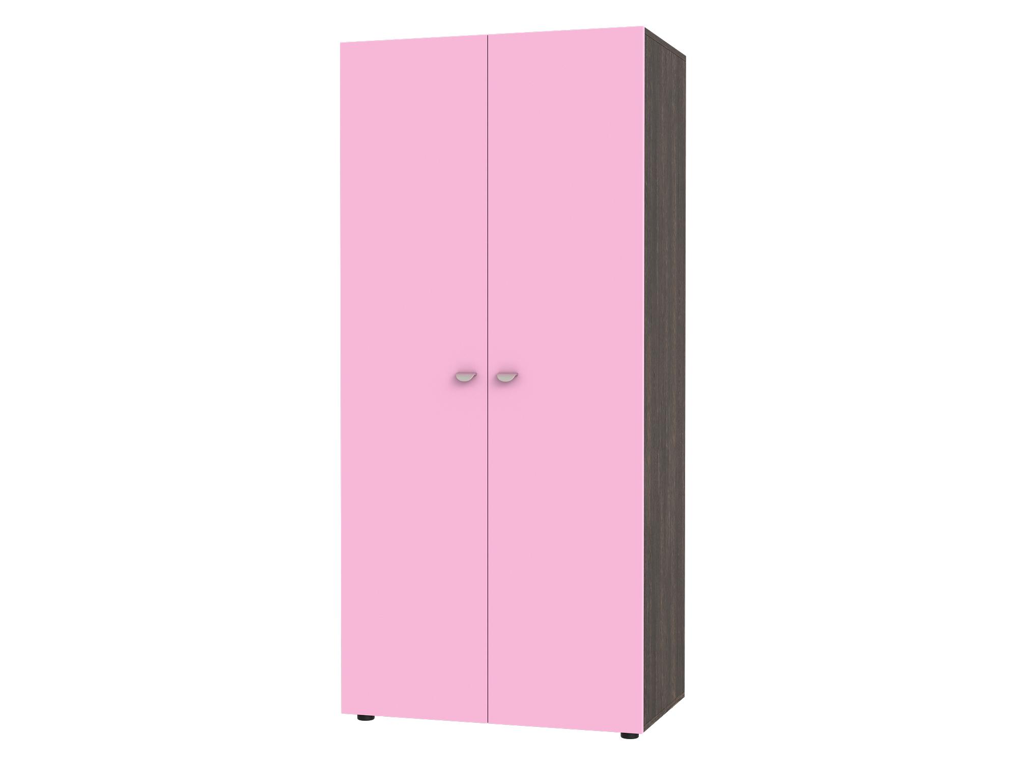 Шкаф 2-х дверный Golden Kids Коричневый темный, Розовый